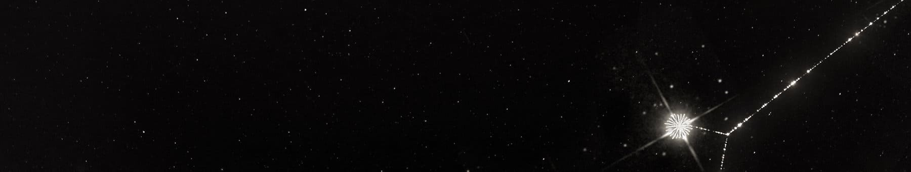 Black image with stars.