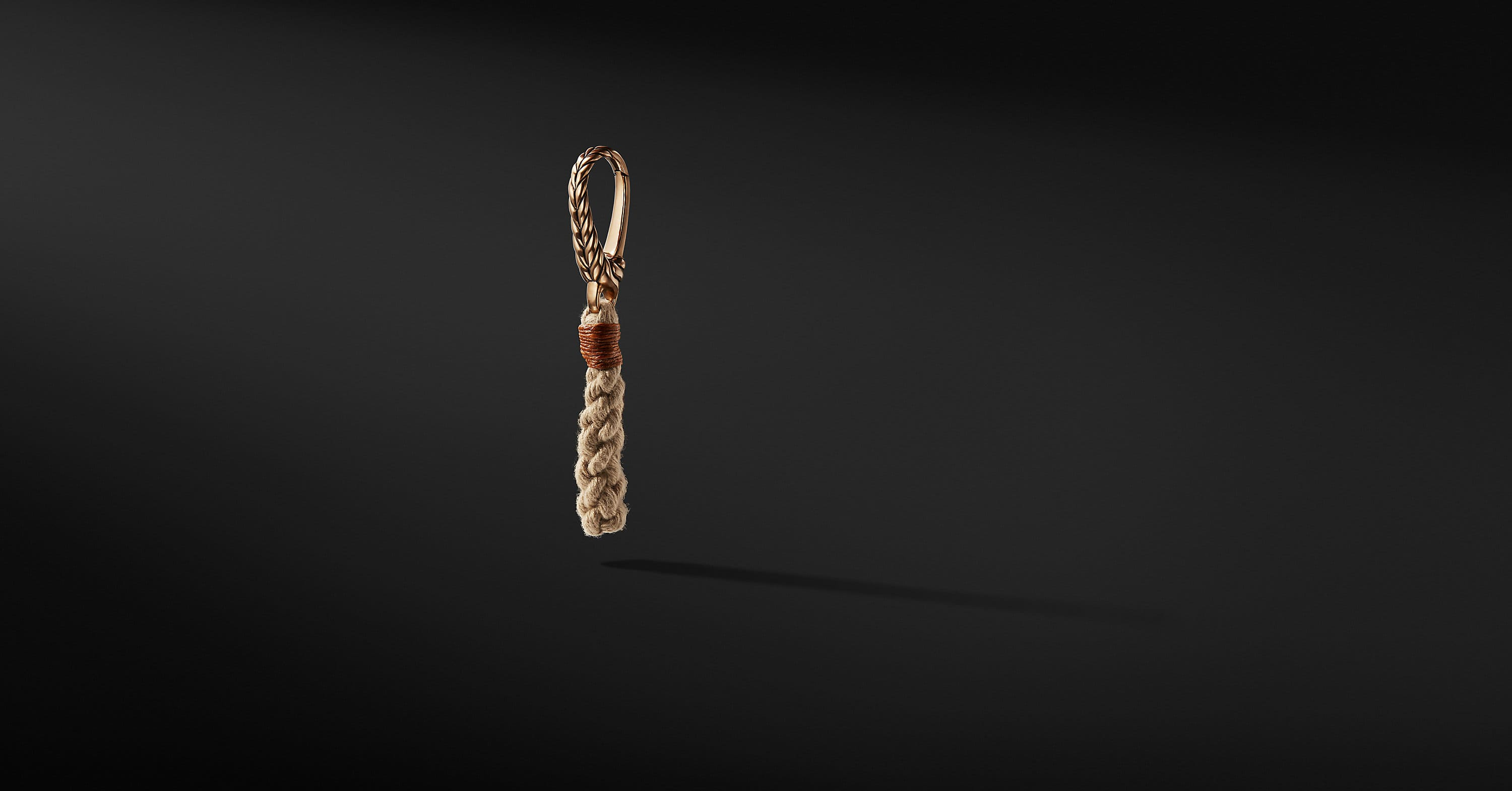 Maritime Rope Keychain with Bronze