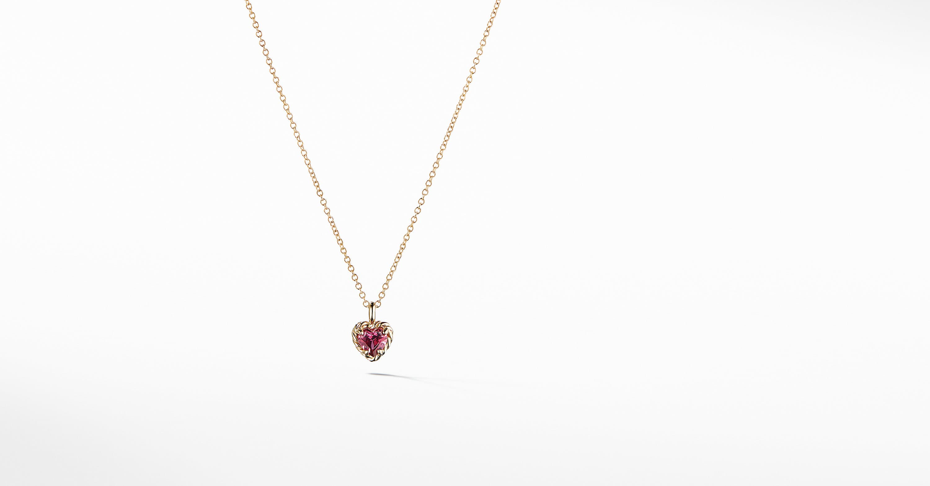 Cable Collectibles Kids Heart Charm Necklace in 18K Gold