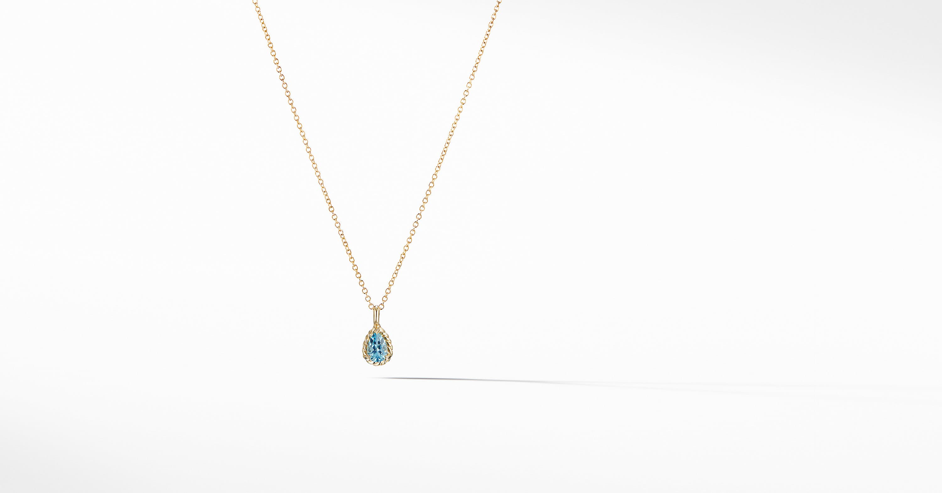 Cable Collectibles Kids Teardrop Charm Necklace in 18K Gold