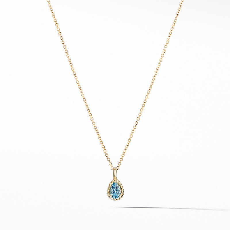Cable Collectibles® Kids Teardrop Charm Necklace with Blue