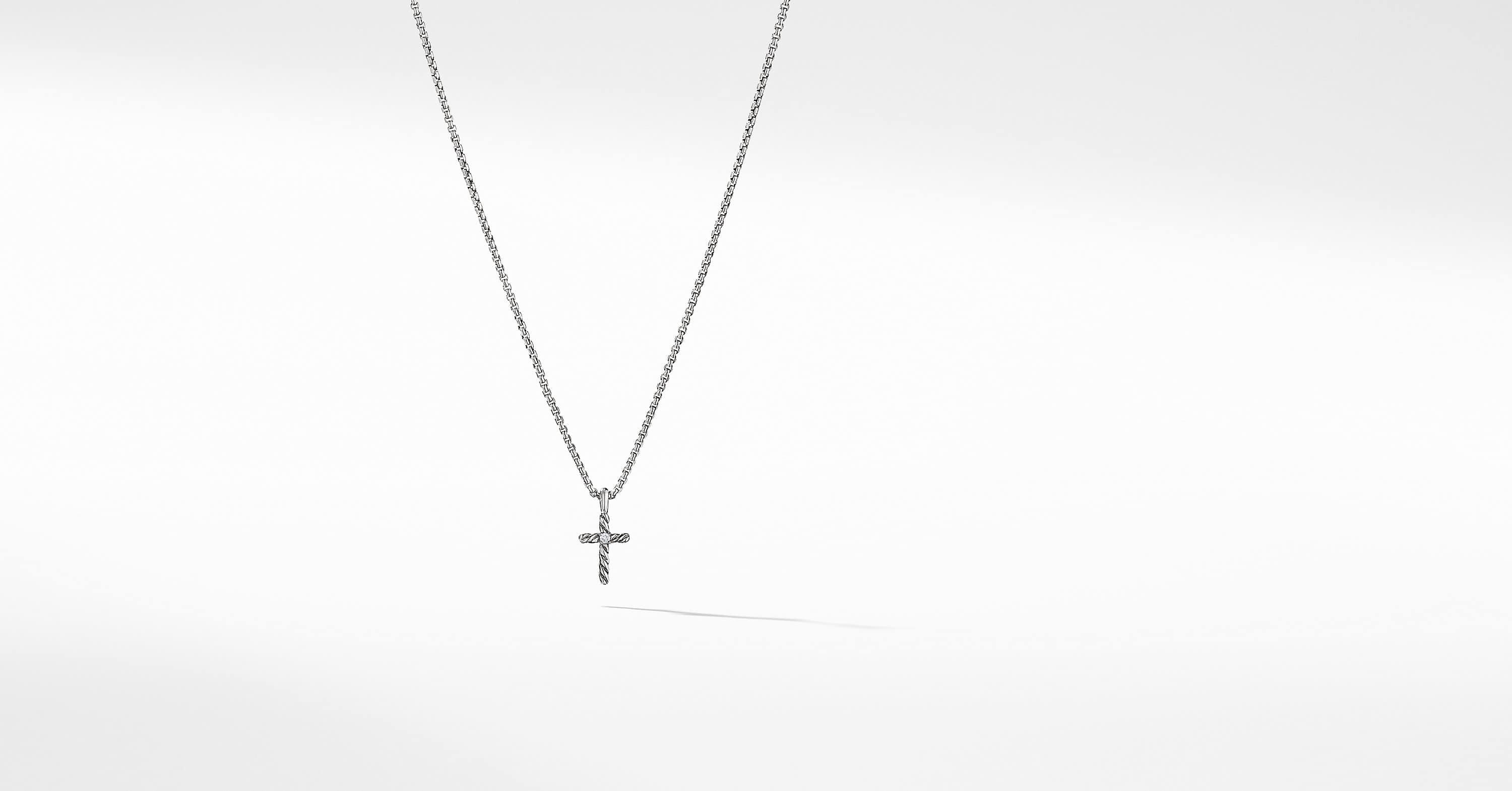 Cable Collectibles Kids Cross Necklace with Diamonds