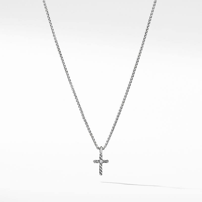 Cable Collectibles® Kids Cross Necklace with Diamonds