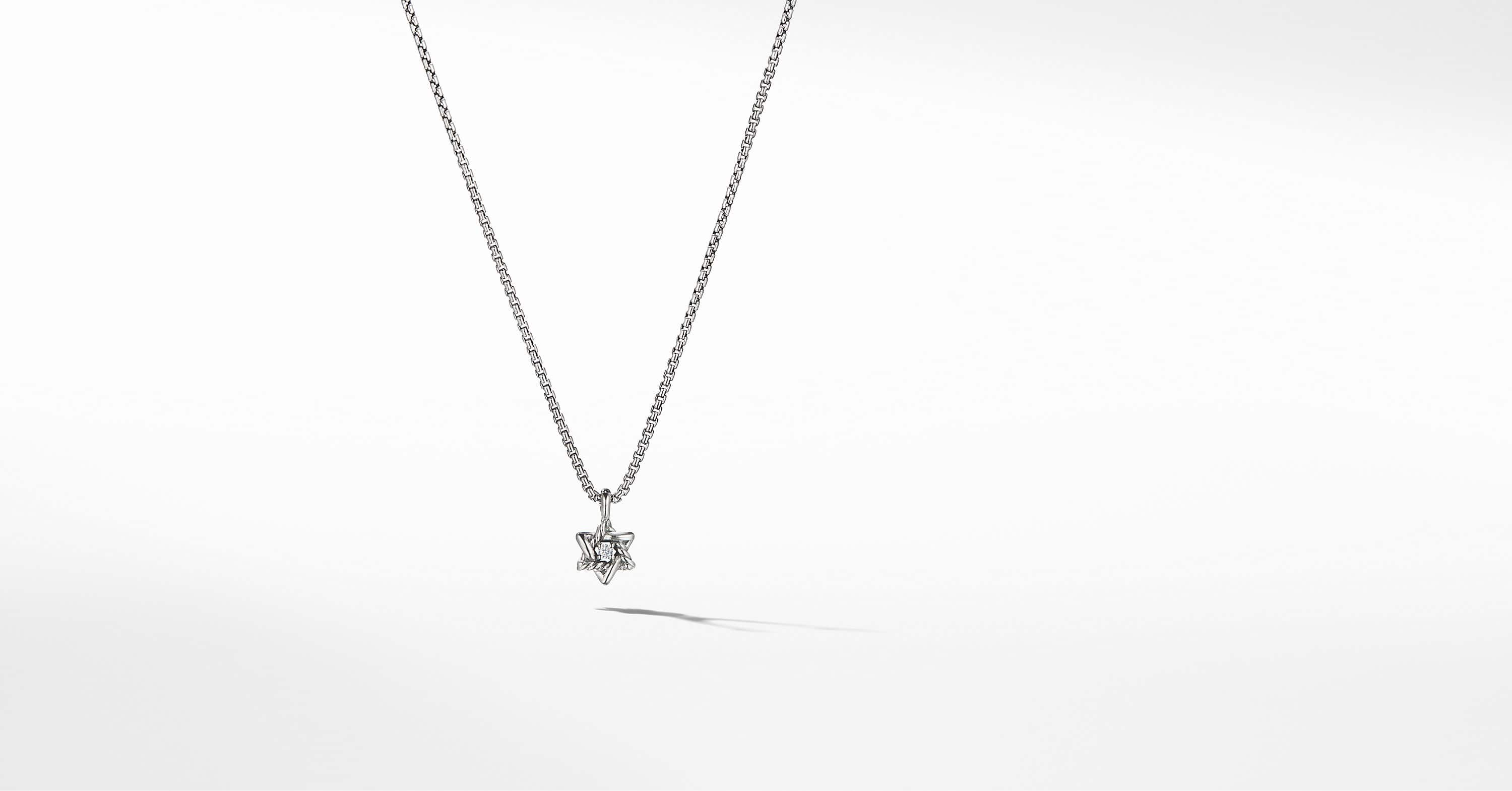 Collier Cable Collectibles enfant avec étoile de David et diamants