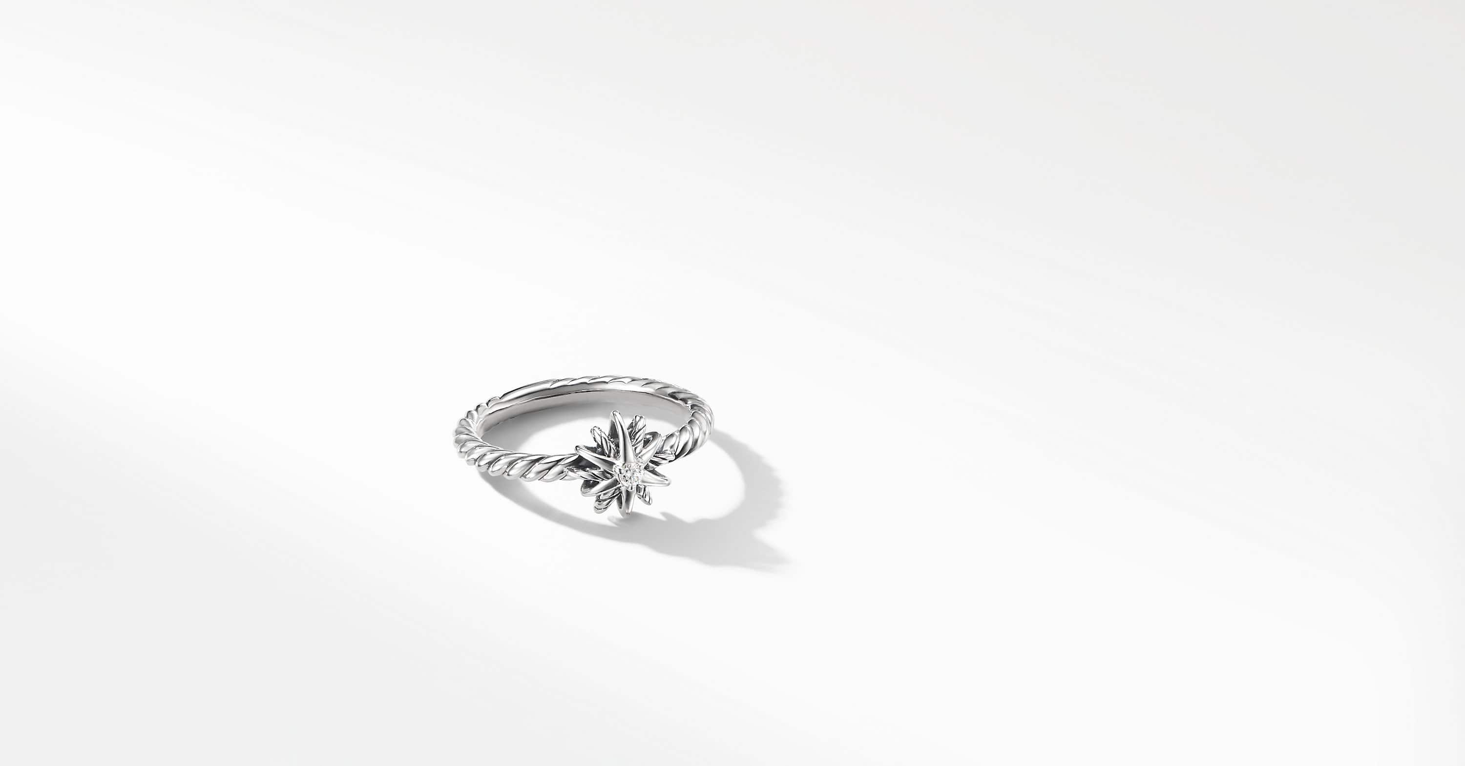 Starburst Kids Ring with Diamonds, 8mm