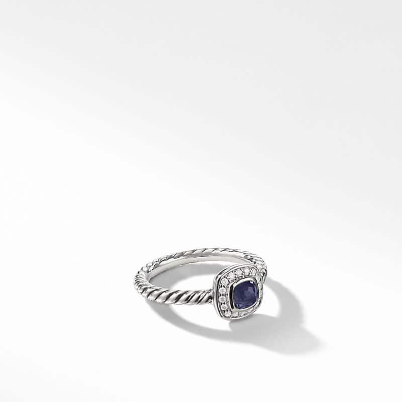 Albion® Kids Ring with Black Orchid and Diamonds,