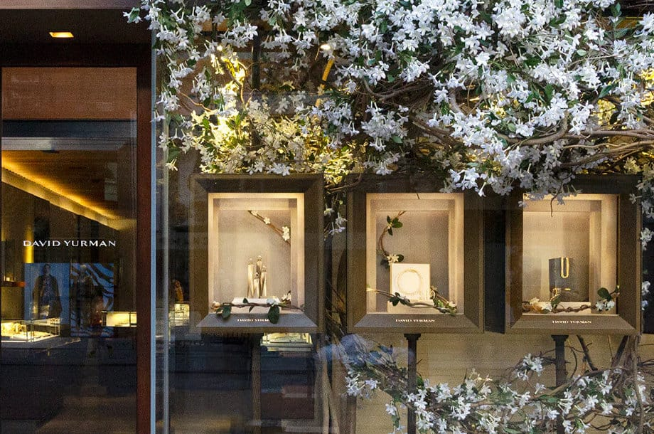 Arrangements of jasmine grace the windows of our Madison Avenue townhouse this season.