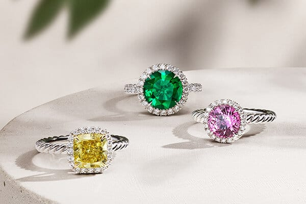 David Yurman engagement rings.