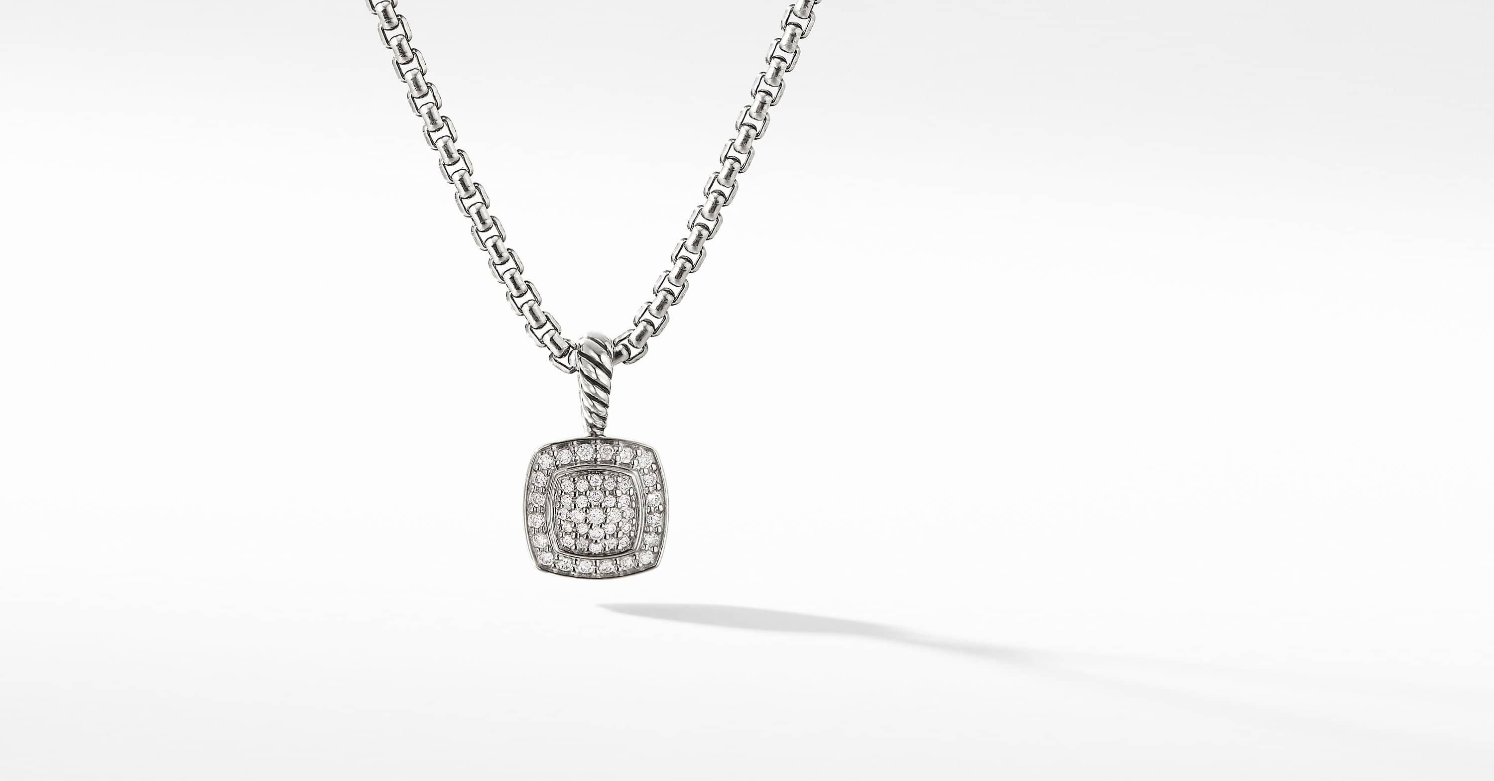 Petite Albion Pendant with Diamonds Necklace