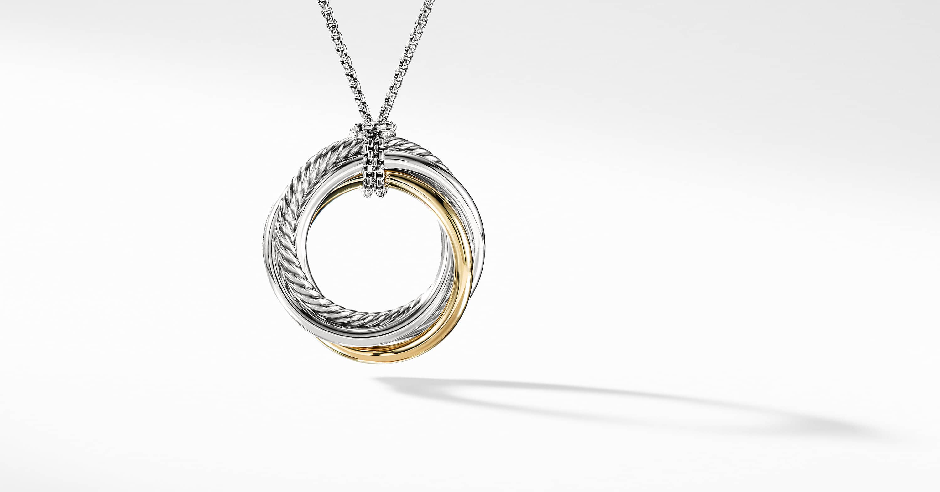 The Crossover Collection Pendant Necklace with 14K Yellow Gold