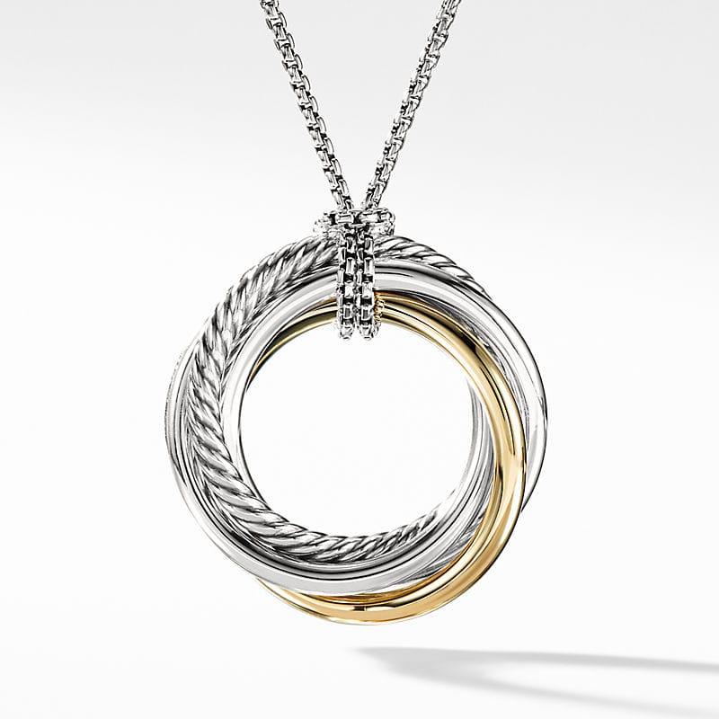 The Crossover Collection® Pendant Necklace with 14K Yellow