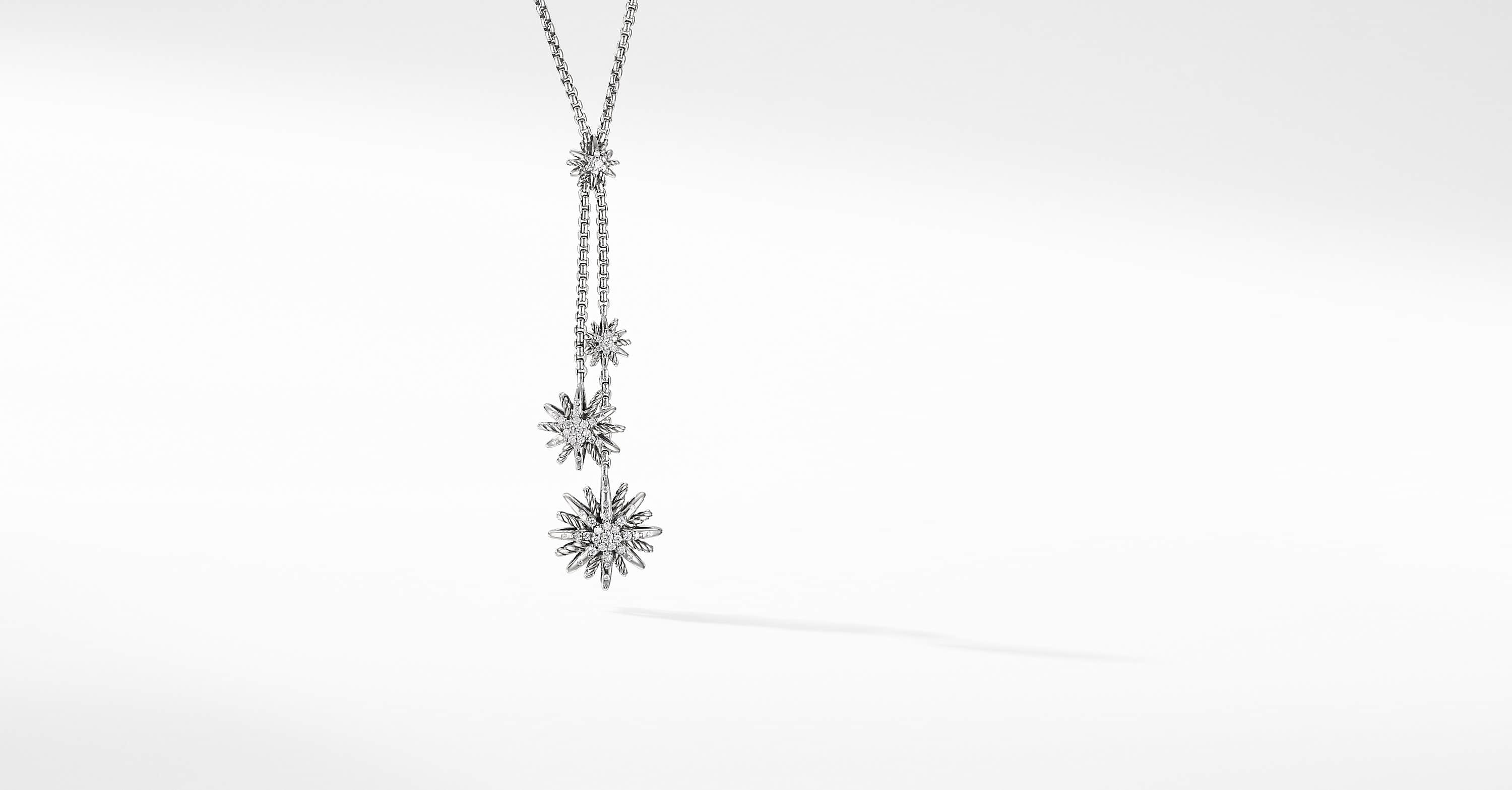 Collier en Y Starburst avec diamants
