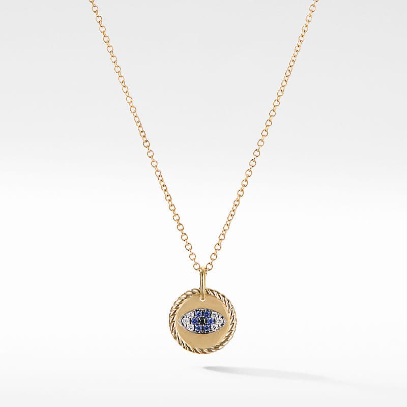 Cable Collectibles Evil Eye Charm Necklace with Blue