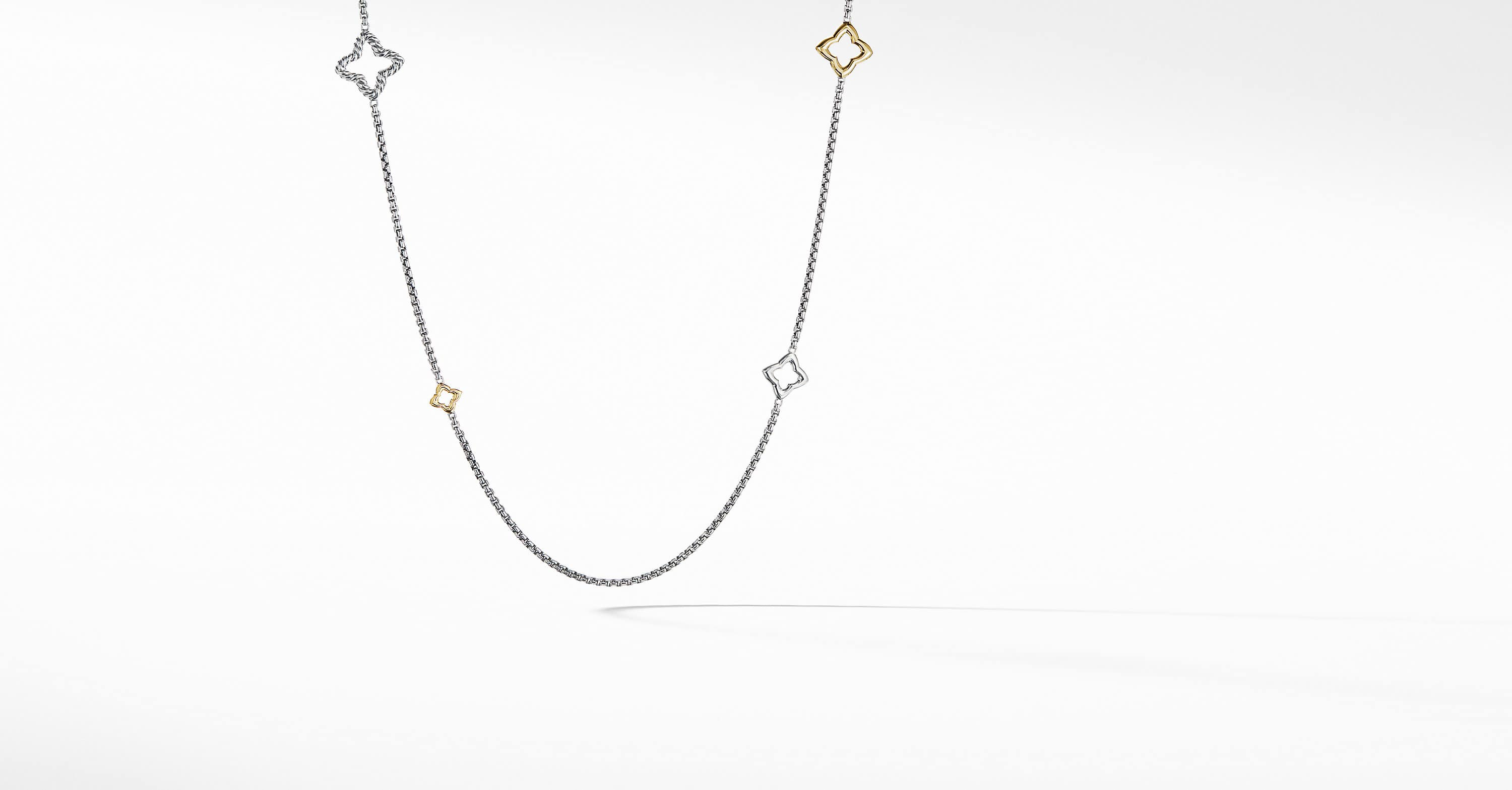 Quatrefoil Chain Necklace with 14K Gold