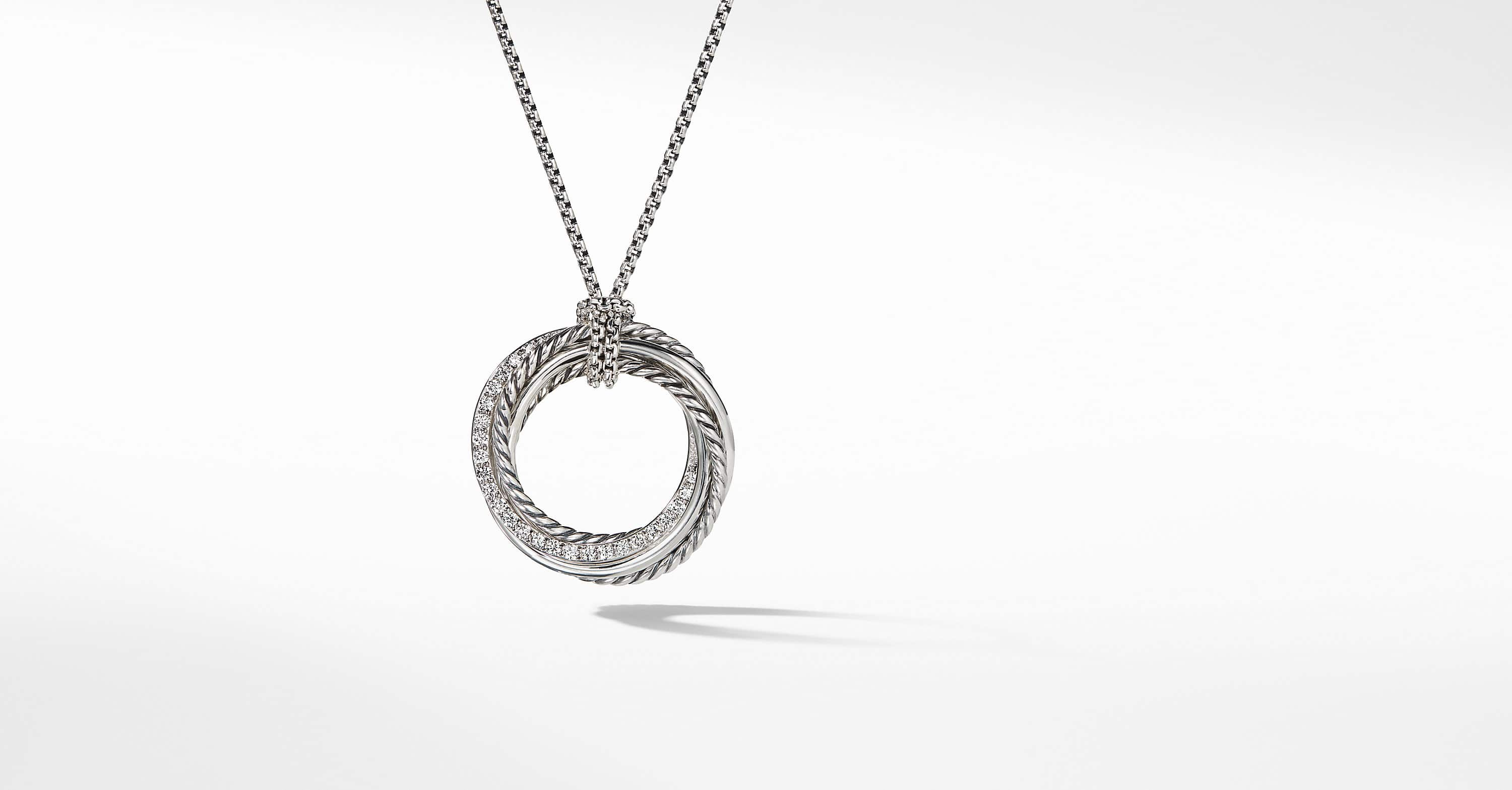 The Crossover Collection Pendant Necklace with Diamonds
