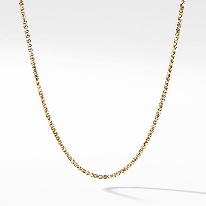 Baby Box Chain Necklace in 18K Gold, 1.7mm