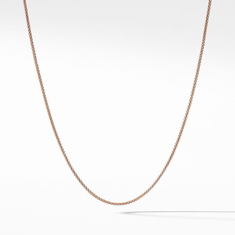 Baby Box Chain Necklace in 18K Rose Gold