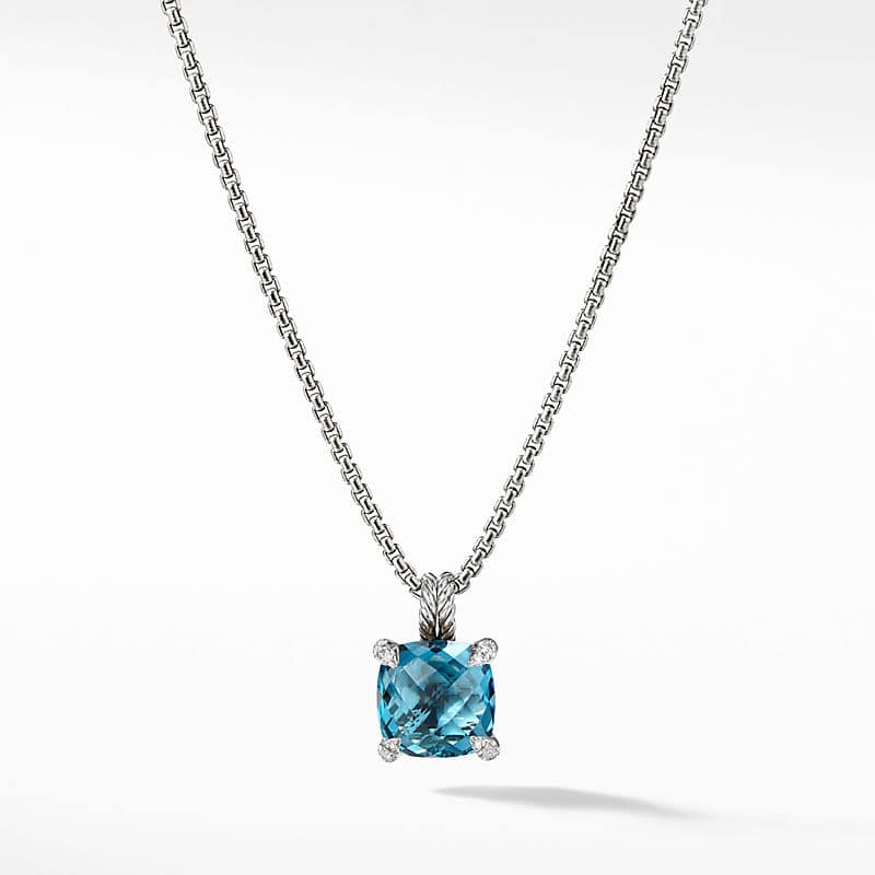 Chatelaine Pendant Necklace with Diamonds, 16mm