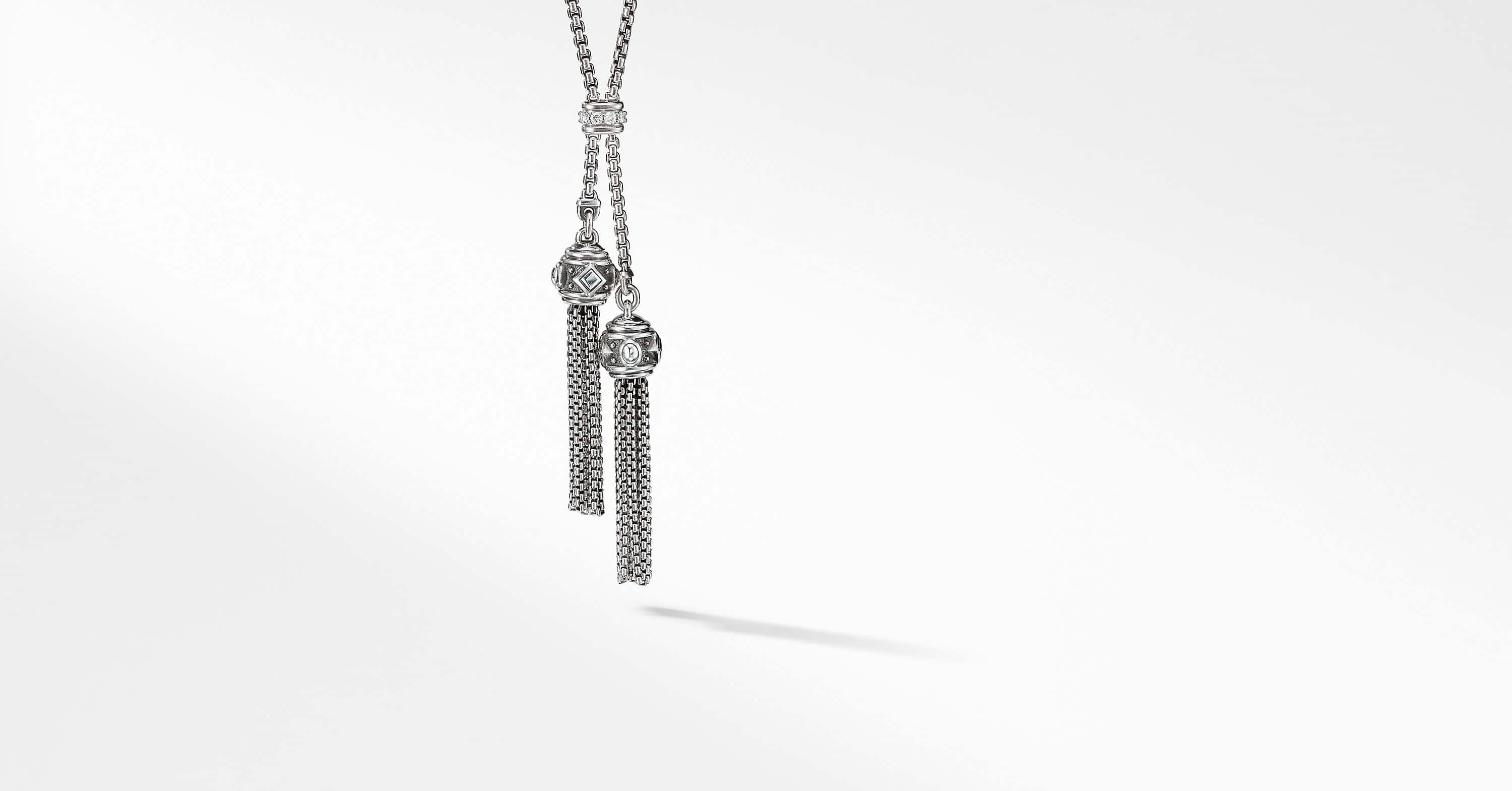 Renaissance Petite Tassel Necklace with Diamonds