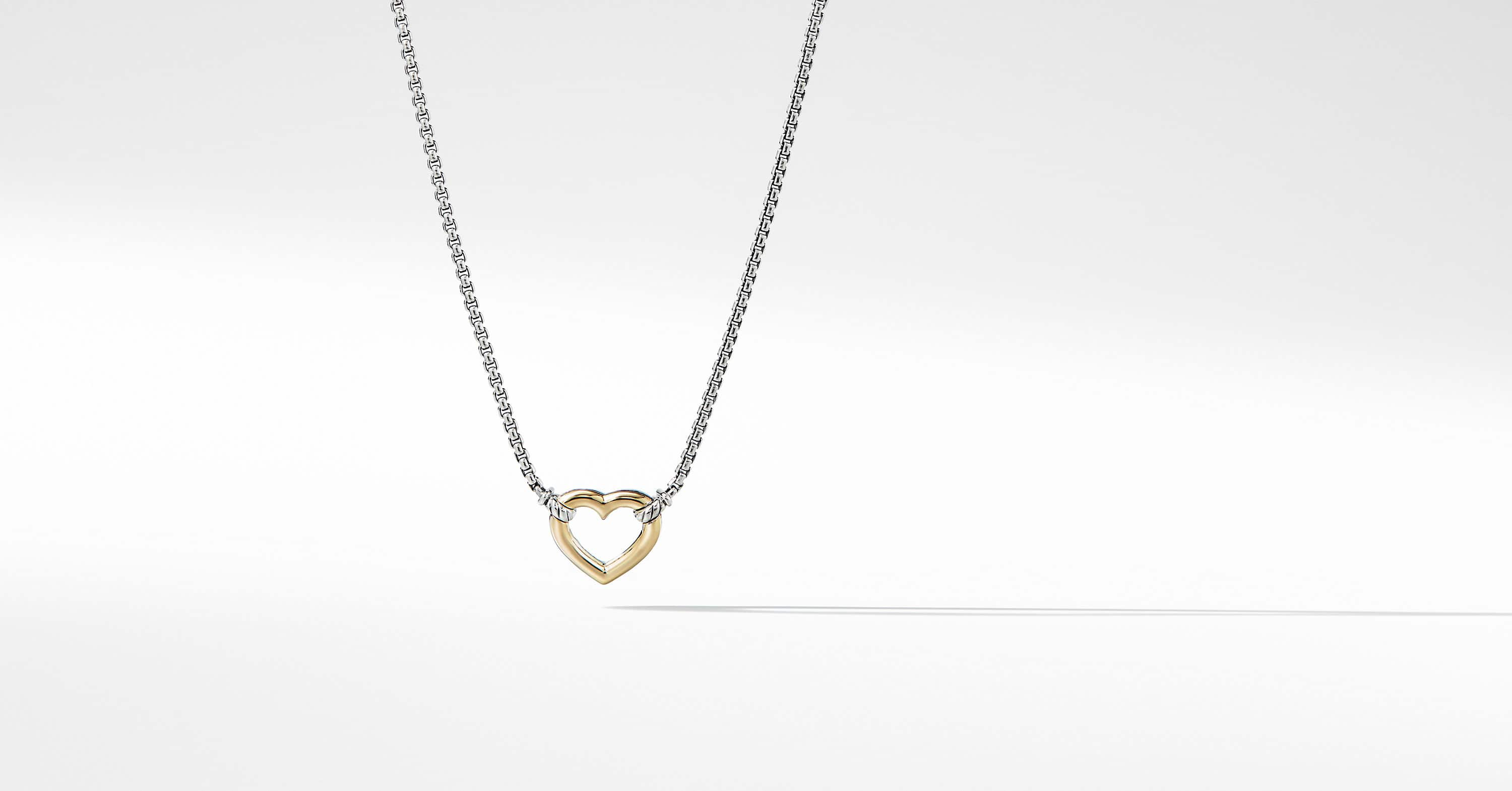 Cable Collectibles Heart Station Necklace with 18K Gold