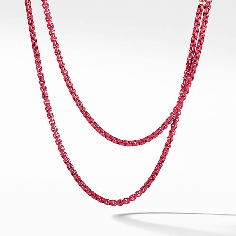DY Bel Aire Chain Necklace with 14K Rose Gold Accents