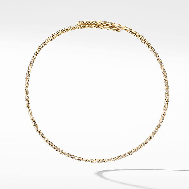 Paveflex Single Row Necklace with Diamonds in 18K Gold