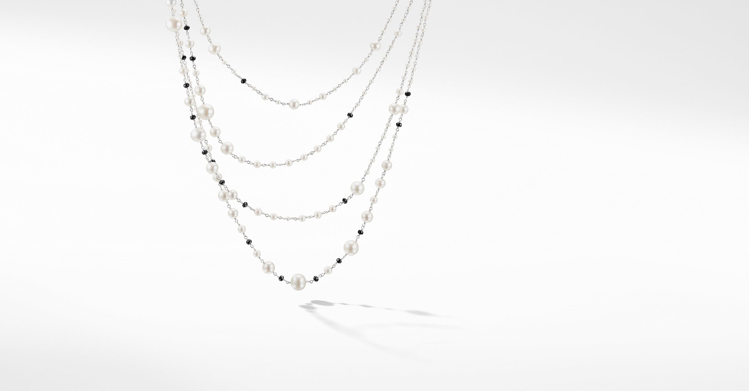 Oceanica Pearl and Bead Link Necklace