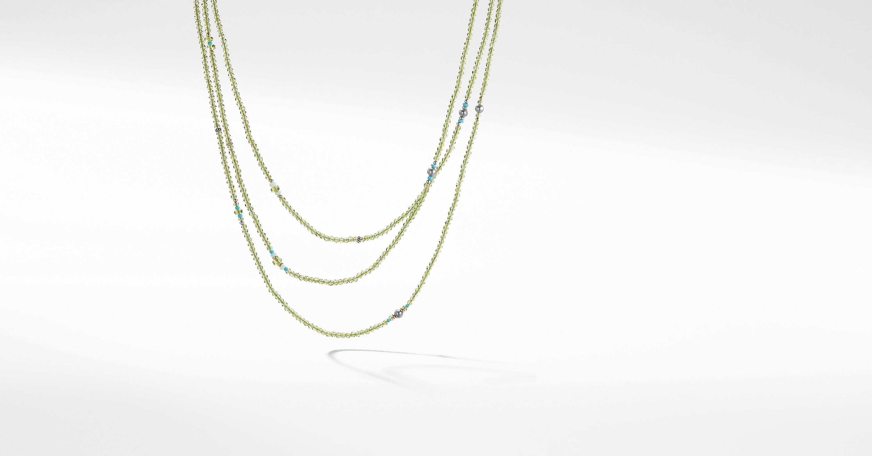 Mustique Beaded Necklace with 18K Gold