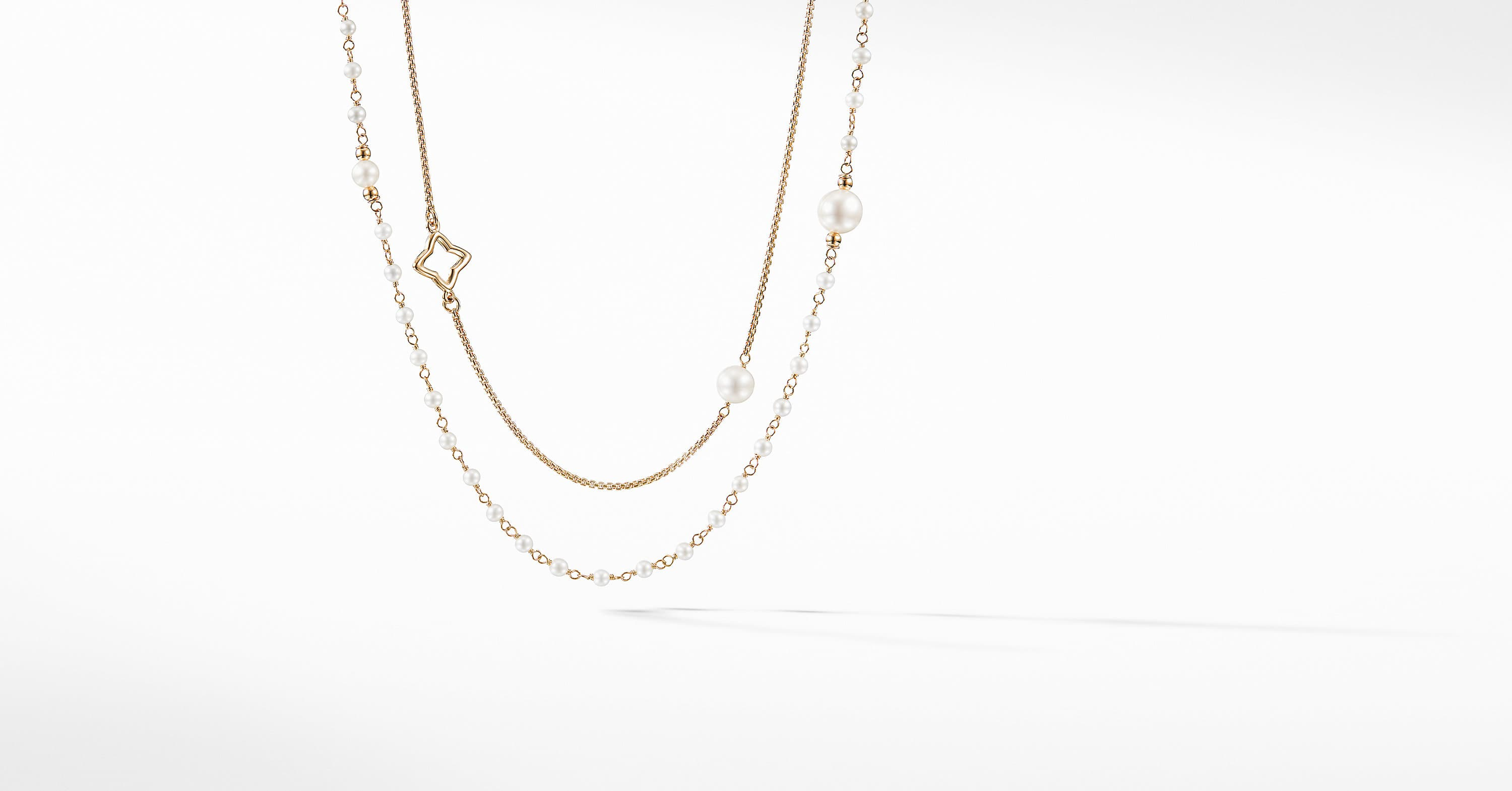 Oceanica Two-Row Chain Necklace in 18k Gold
