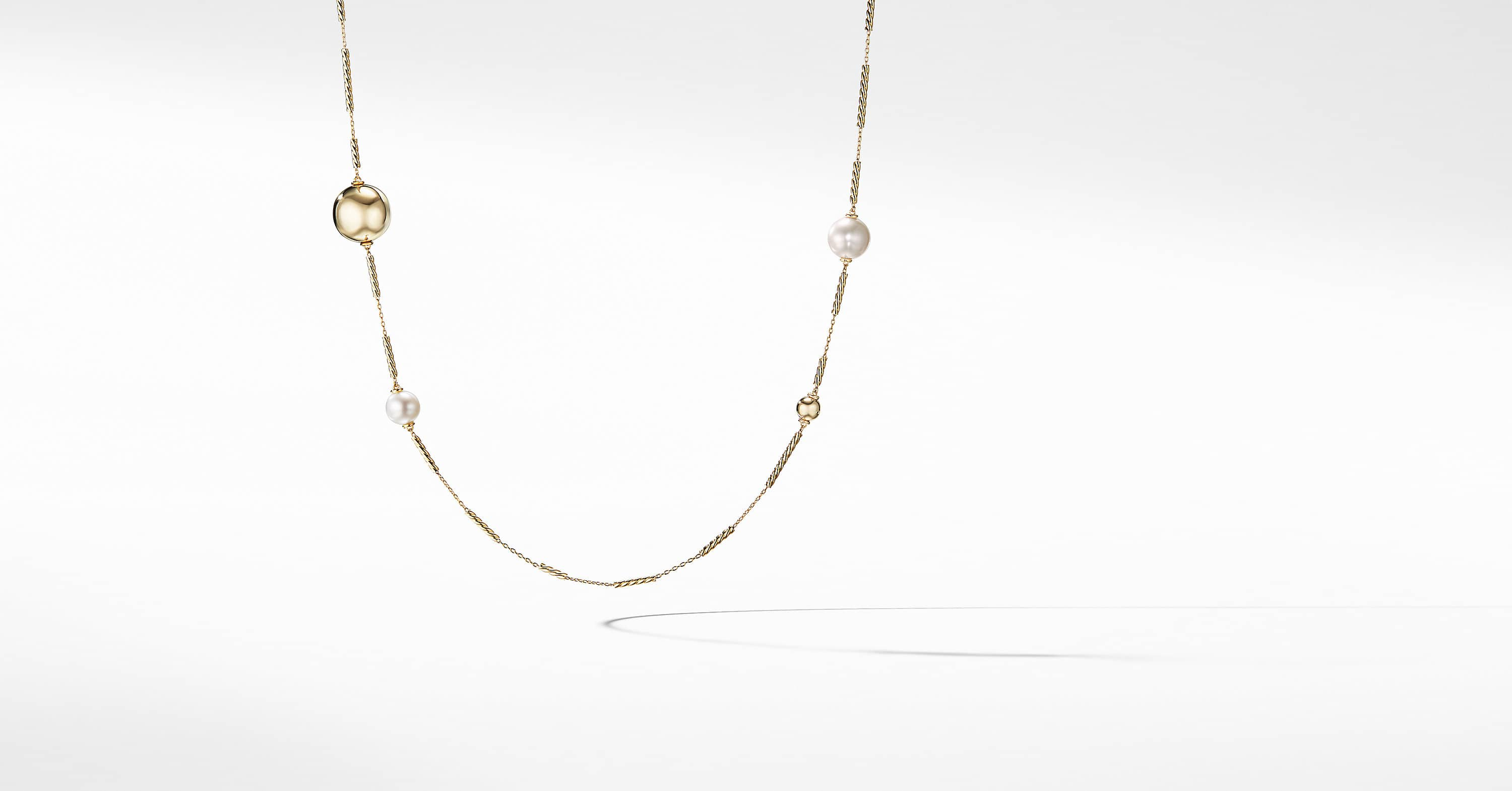 Solari Long Station Necklace in 18K Gold
