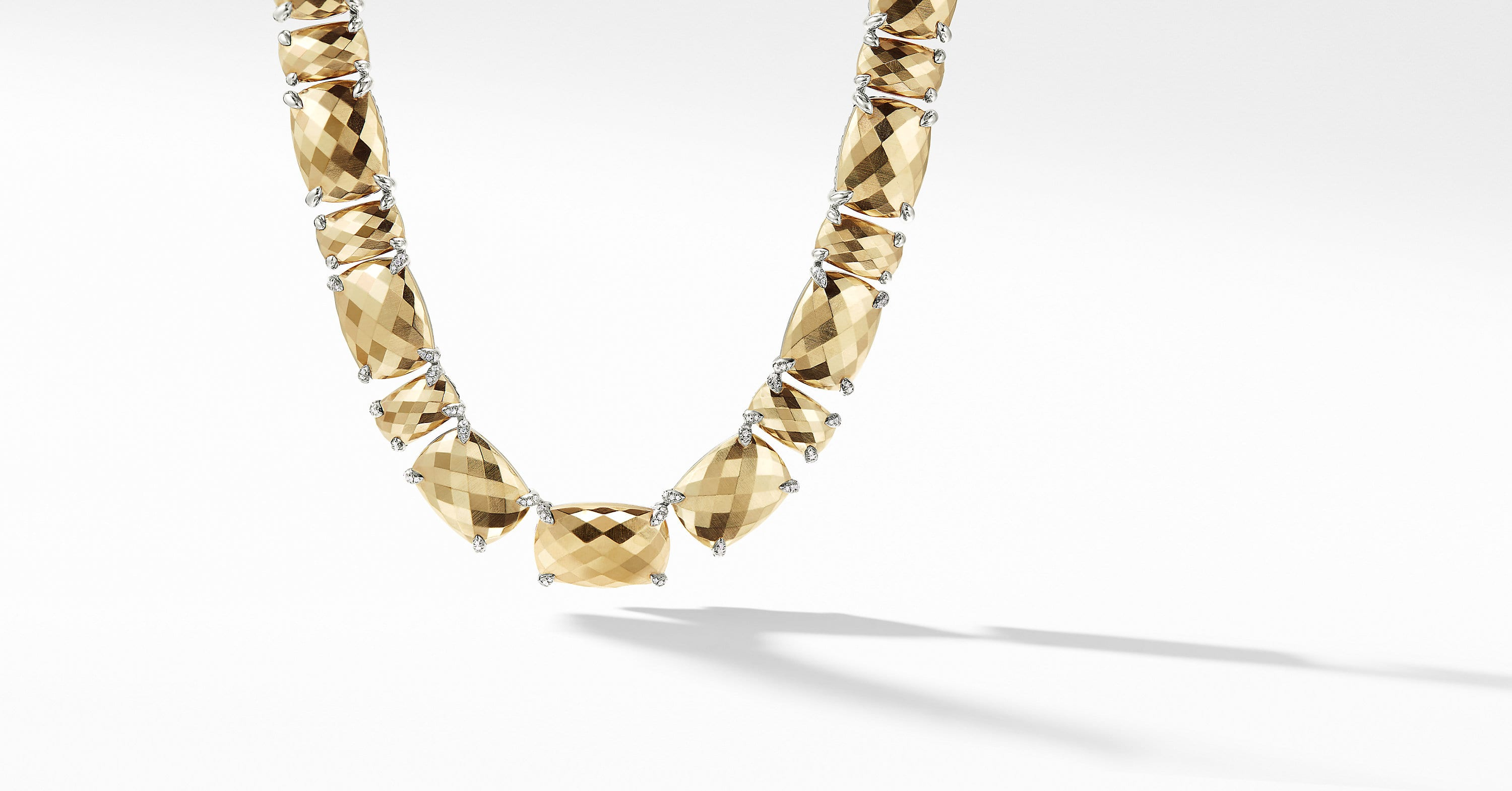 Chatelaine Linear Necklace with Diamonds and 18K Gold