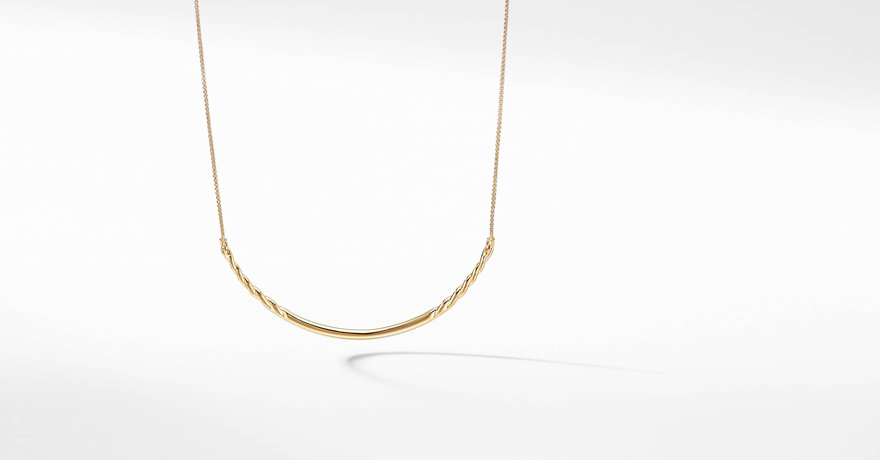 Pure Form Collar Necklace in 18K Gold