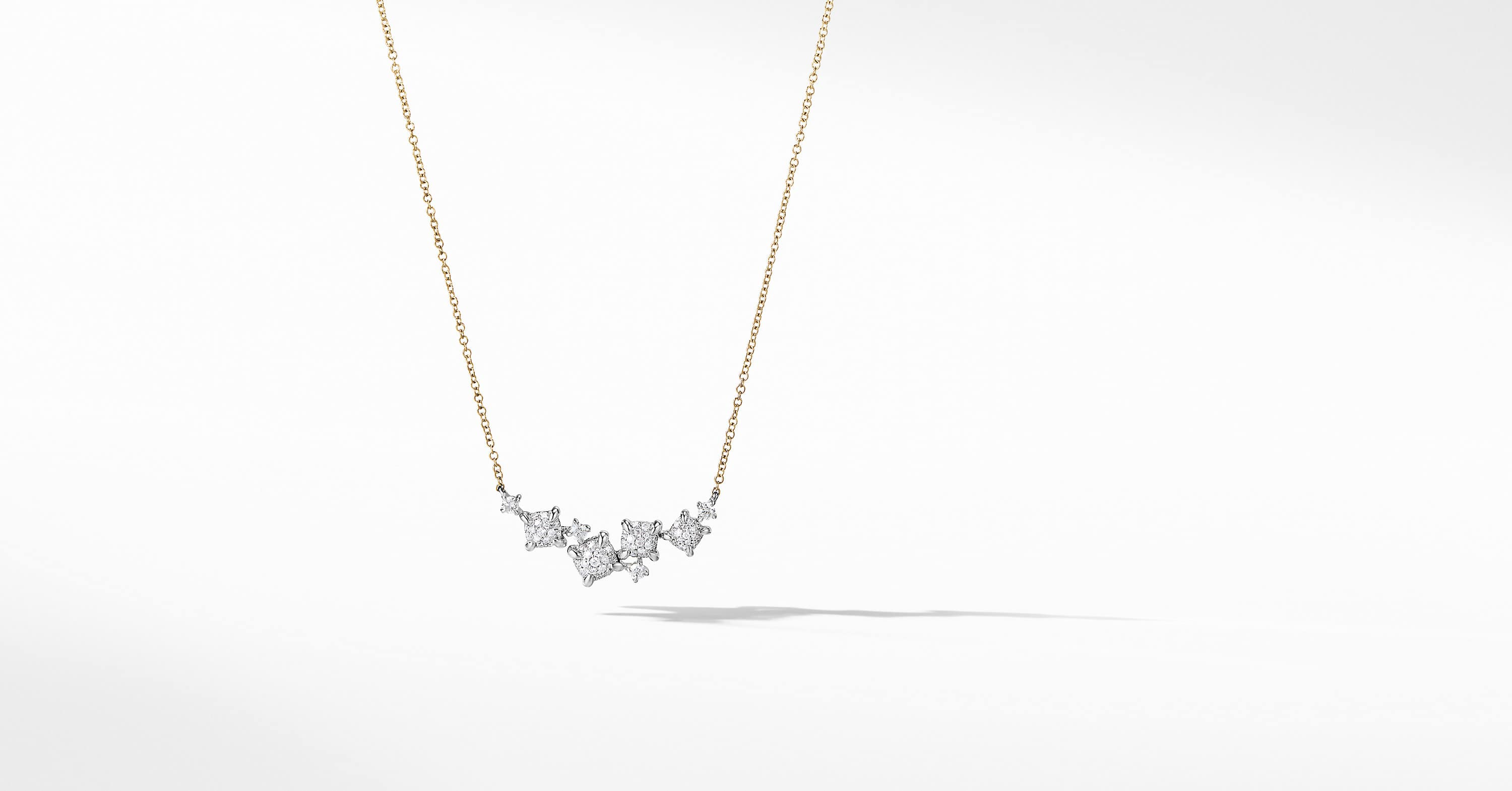 Precious Chatelaine Necklace with Diamonds in 18K Yellow and White Gold