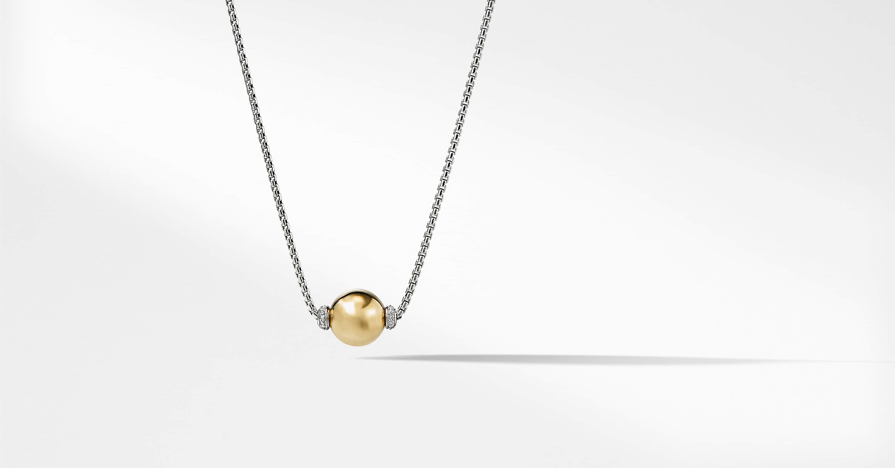 Solari Pendant Necklace with Diamonds and 18K Gold