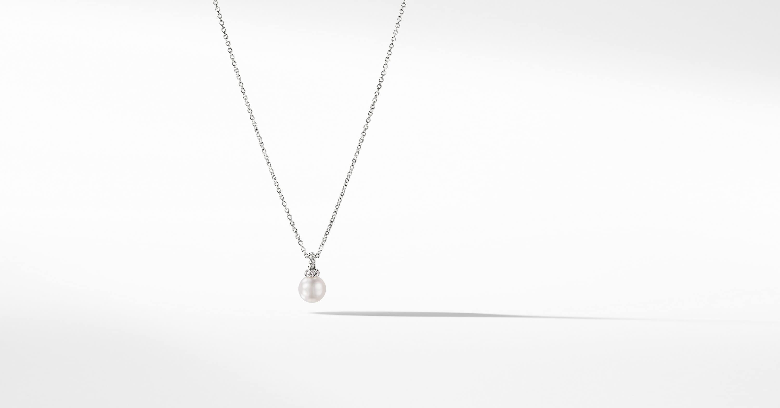 Solari Pendant Necklace with Diamonds in 18K White Gold