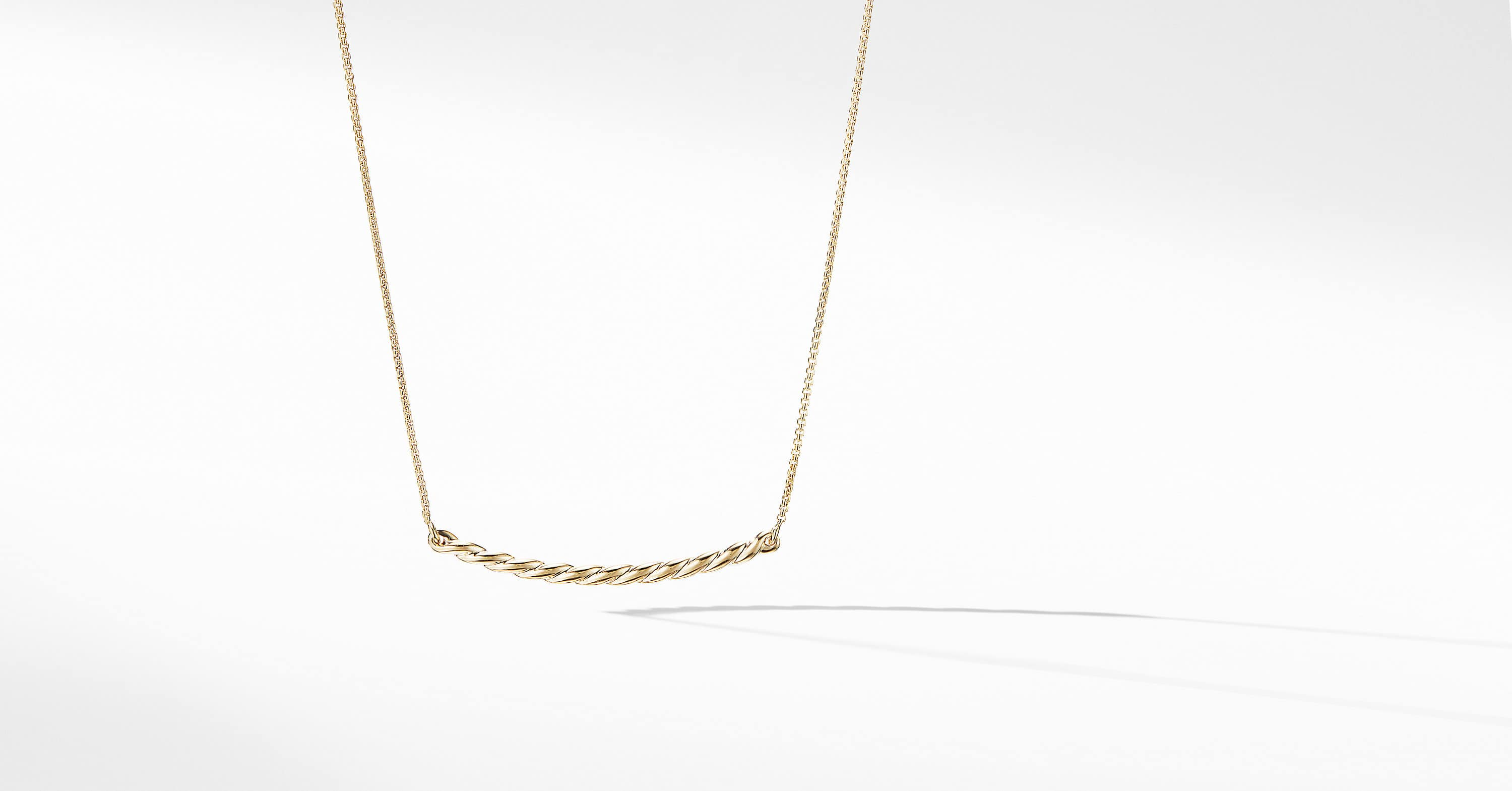 Pavéflex Station Necklace in 18K Gold