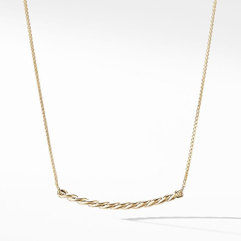 Flex Station Necklace in 18K Yellow Gold