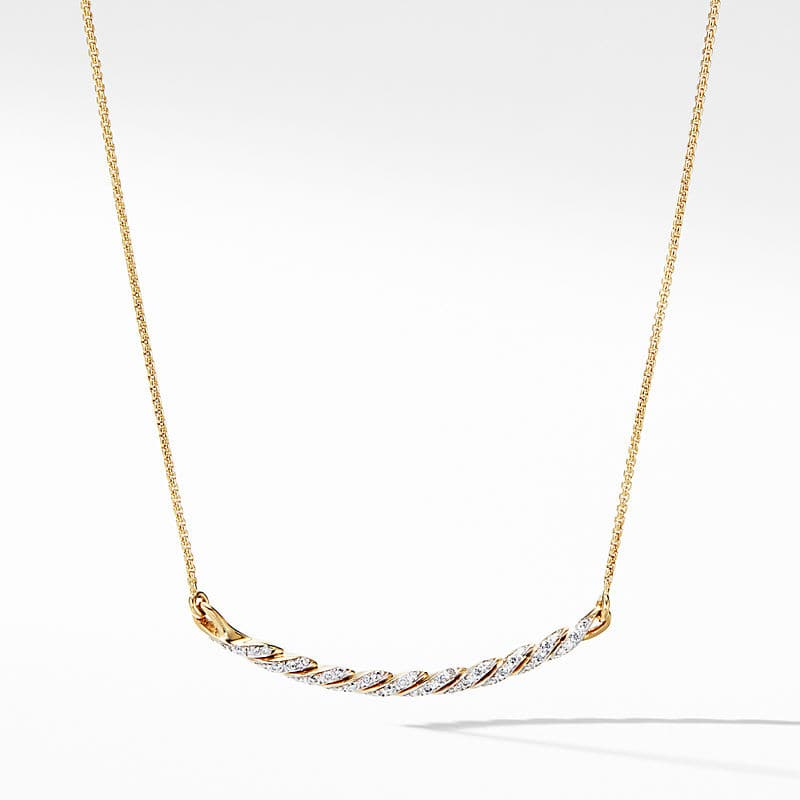 Pavéflex Station Necklace in 18K Yellow Gold