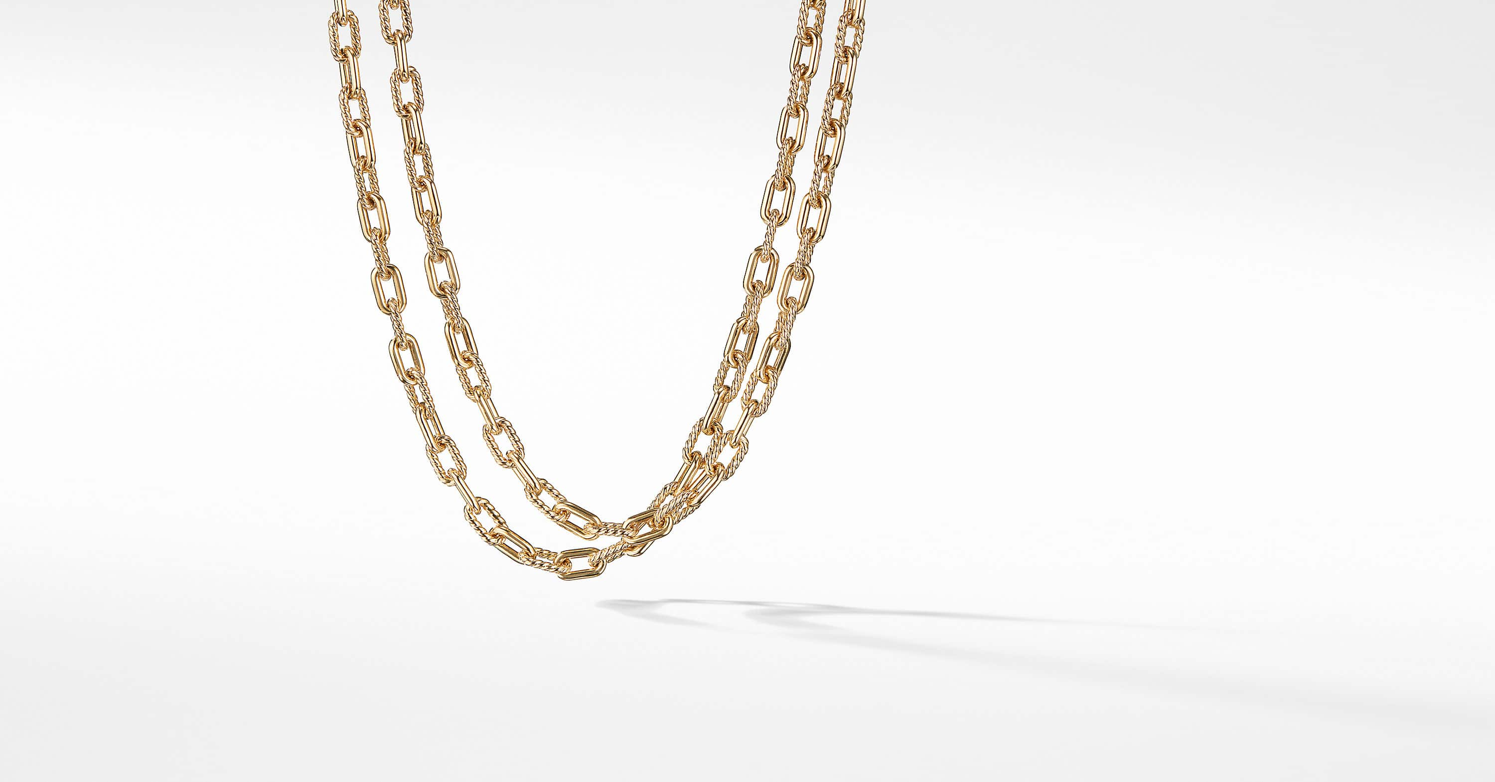 DY Madison Chain Bold Necklace in 18K Gold, 6mm