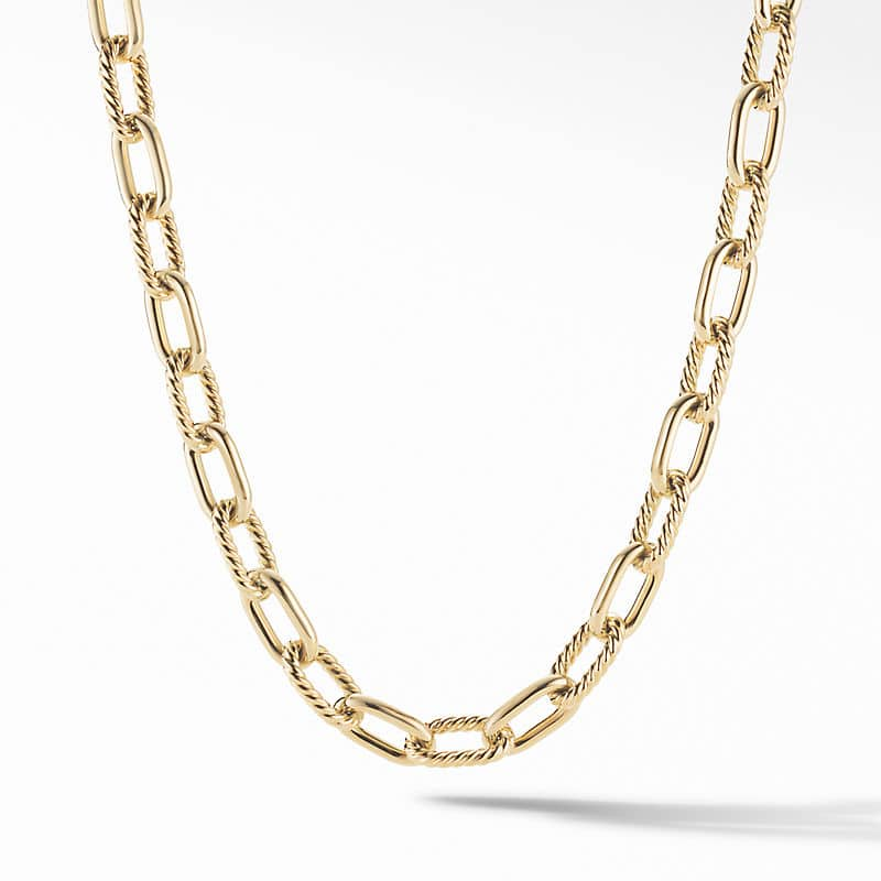 DY Madison Chain Necklace in 18K Yellow Gold, 11mm