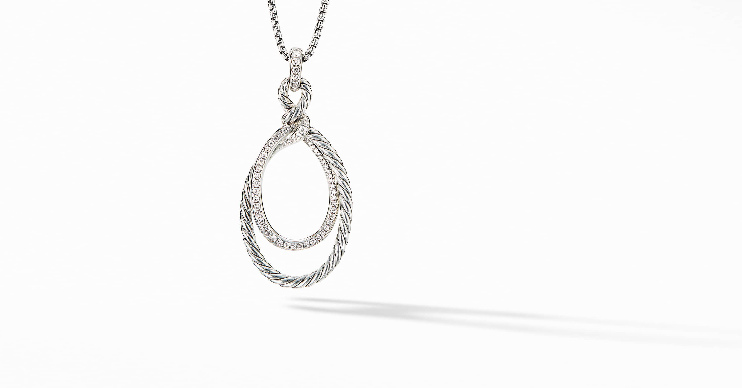 Continuance Pendant Necklace with Diamonds