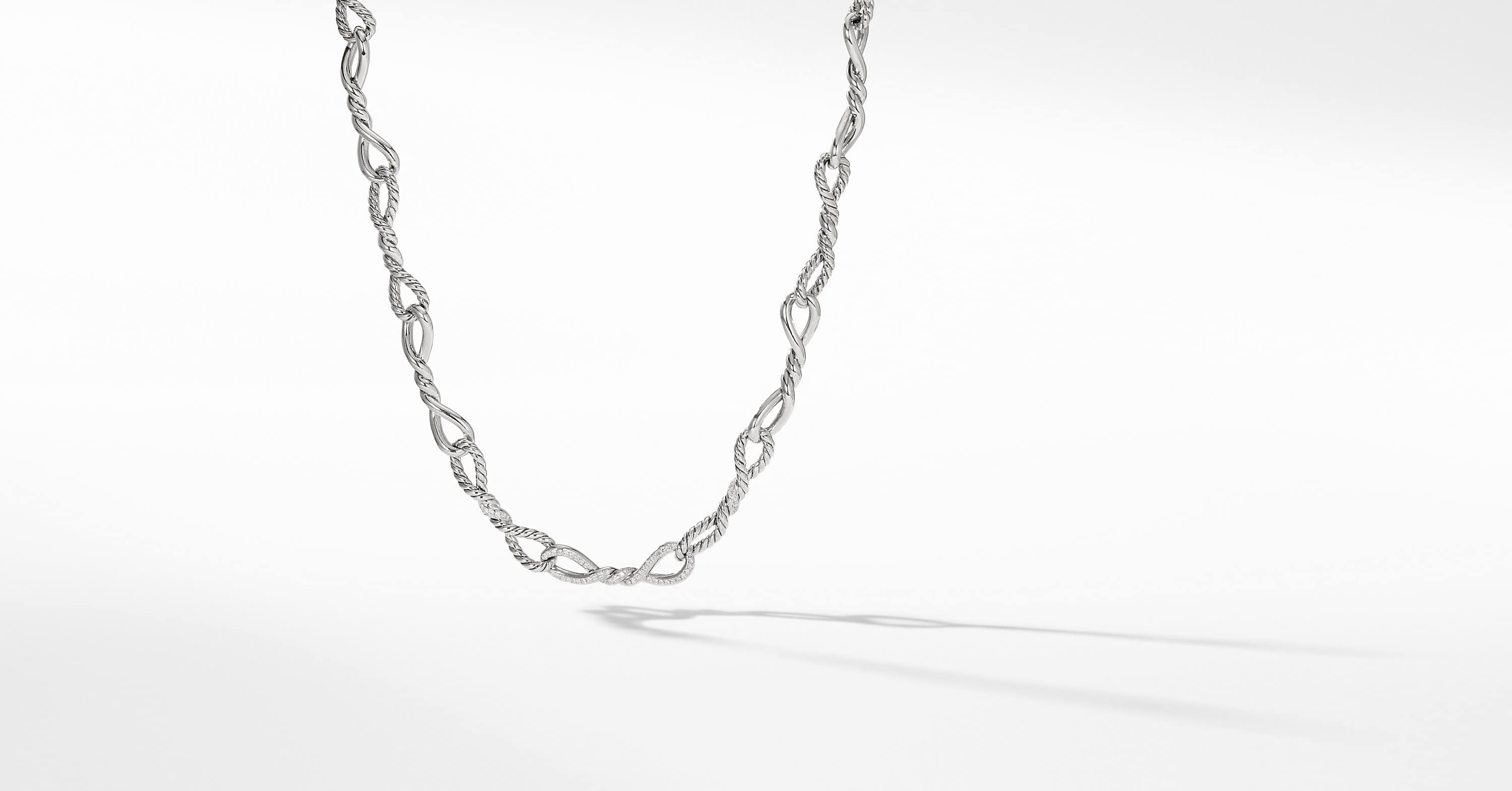 Continuance Short Linked Necklace with Diamonds