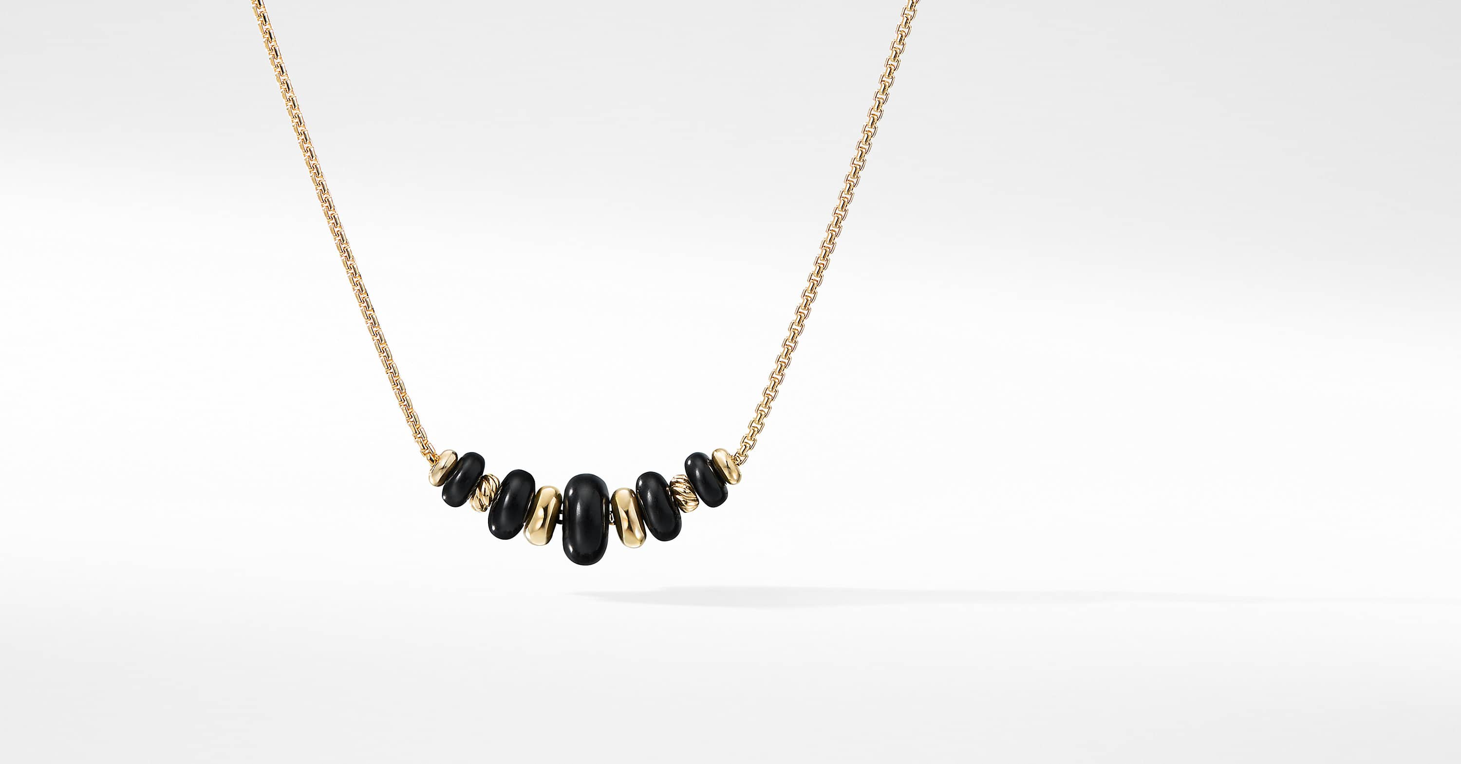 Rio Rondelle Short Station Necklace in 18K Gold