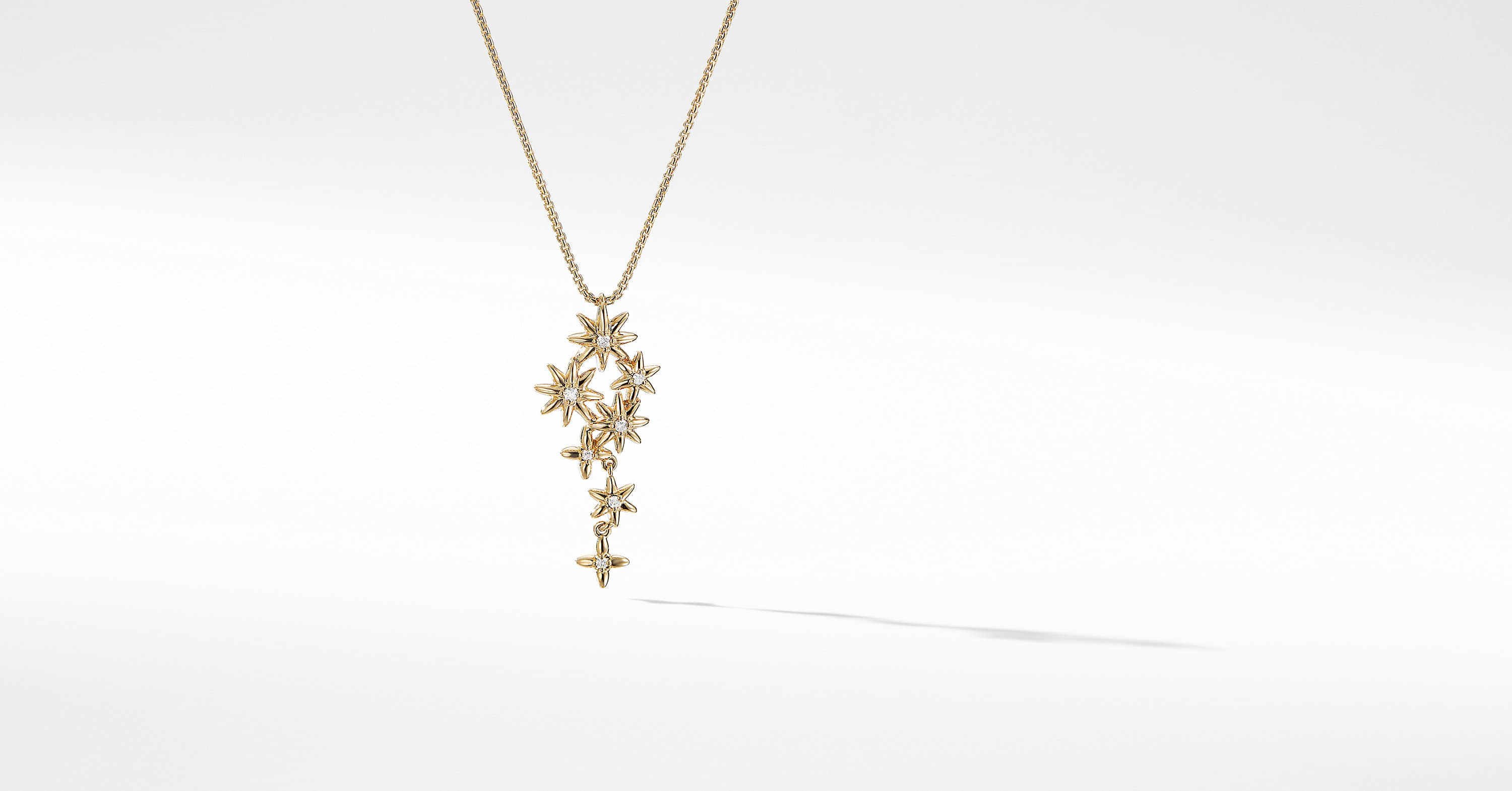Pendentif Starburst Constellation en or 18K avec diamants