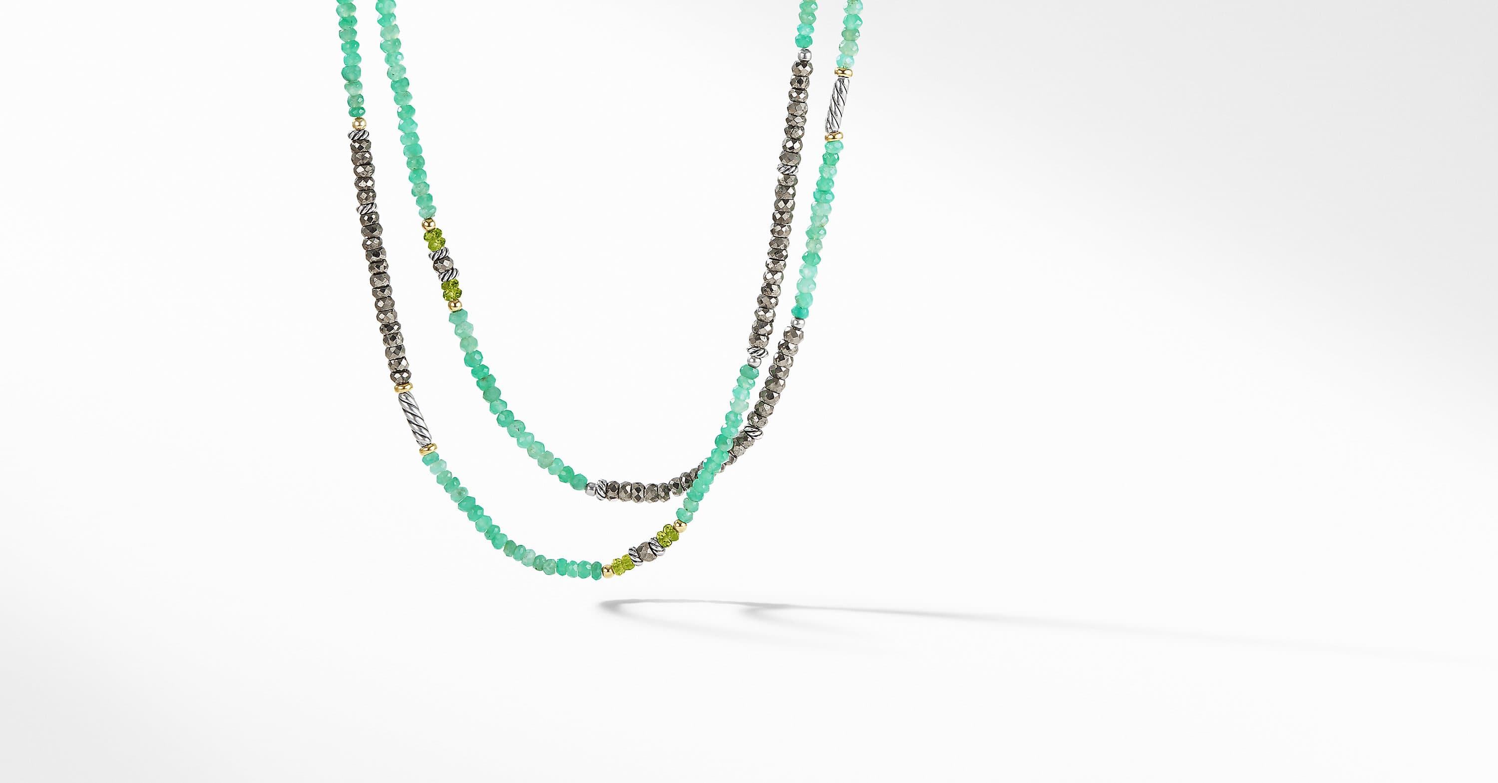 Tweejoux Bead Necklace with 18K Gold