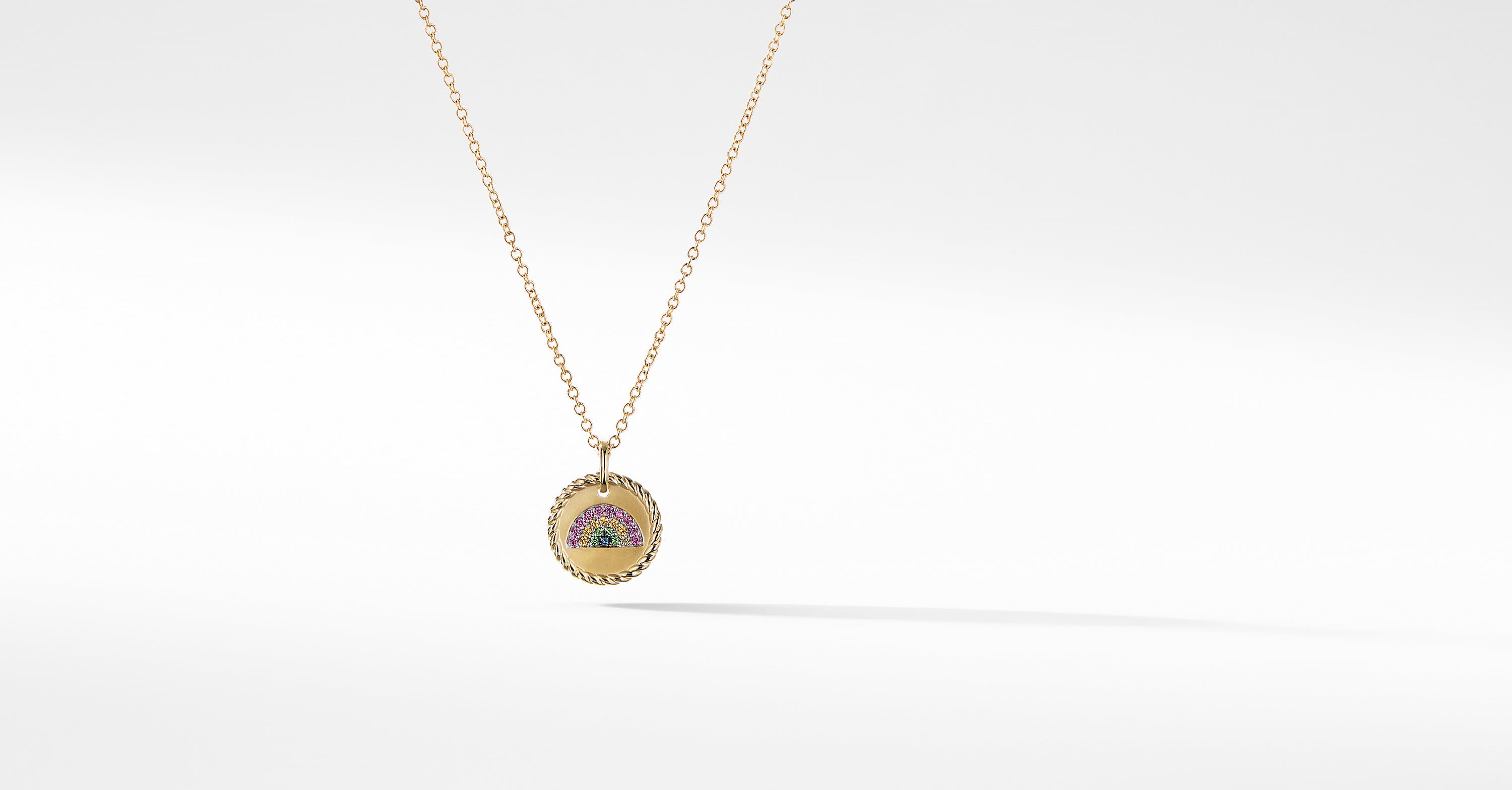 Cable Collectibles Rainbow Necklace in 18K Gold