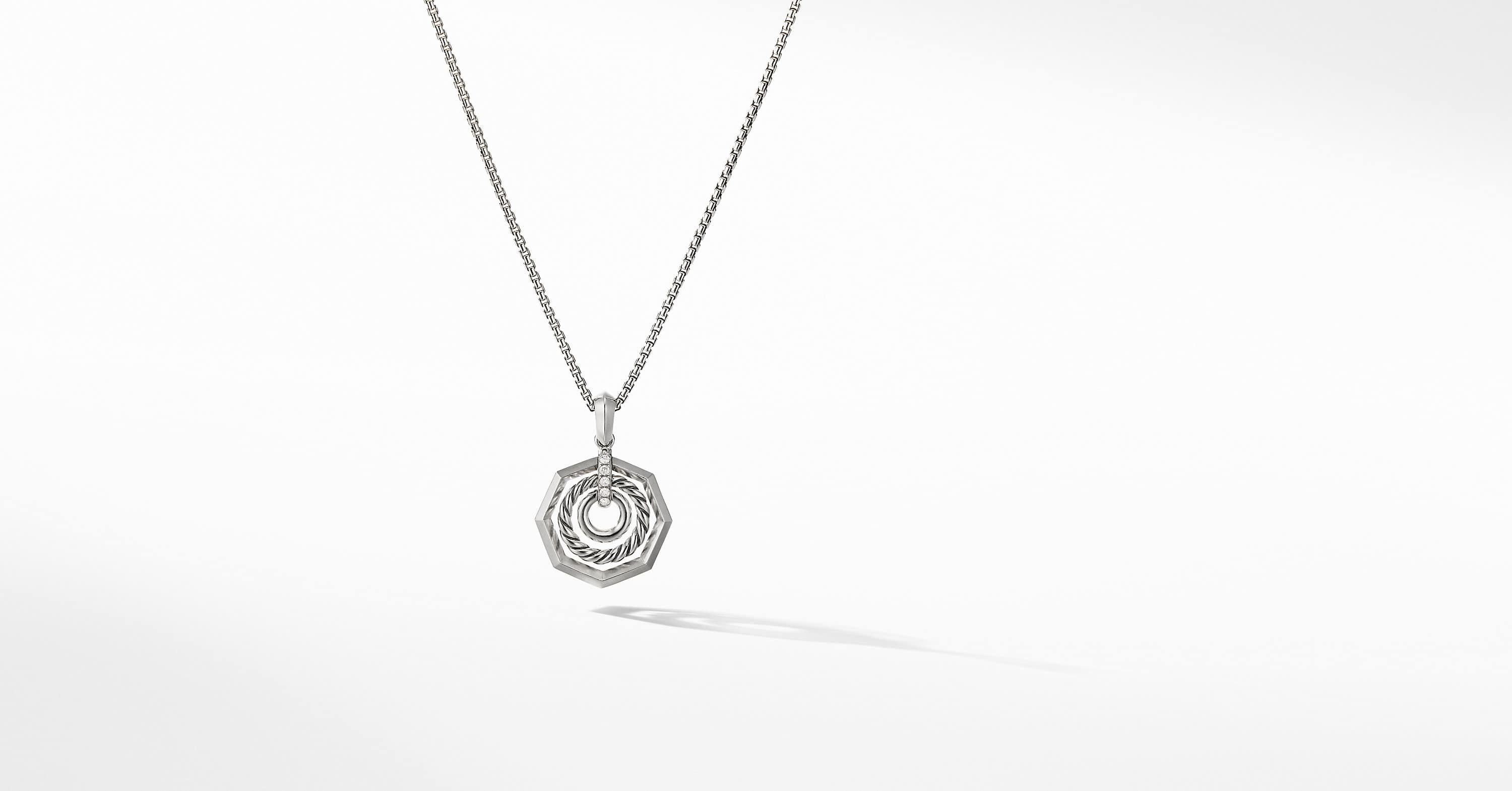 Stax Pendant Necklace with Diamonds