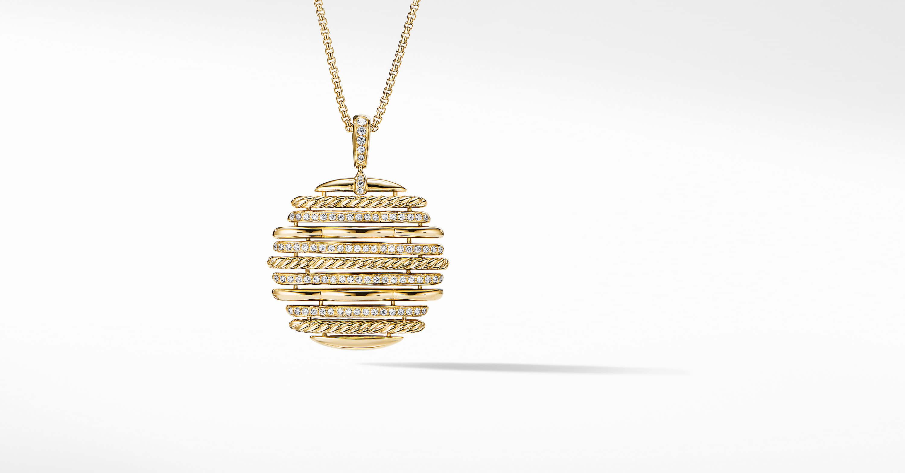 Tides Pendant Necklace in 18K Yellow Gold with Diamonds