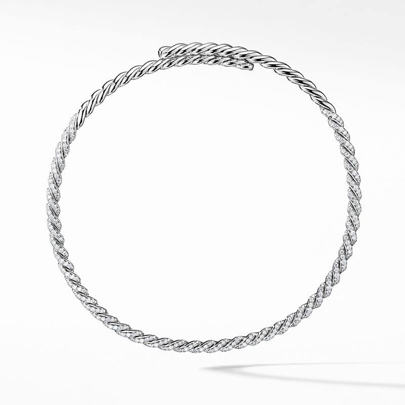 Pavéflex Necklace in 18K White Gold with Diamonds