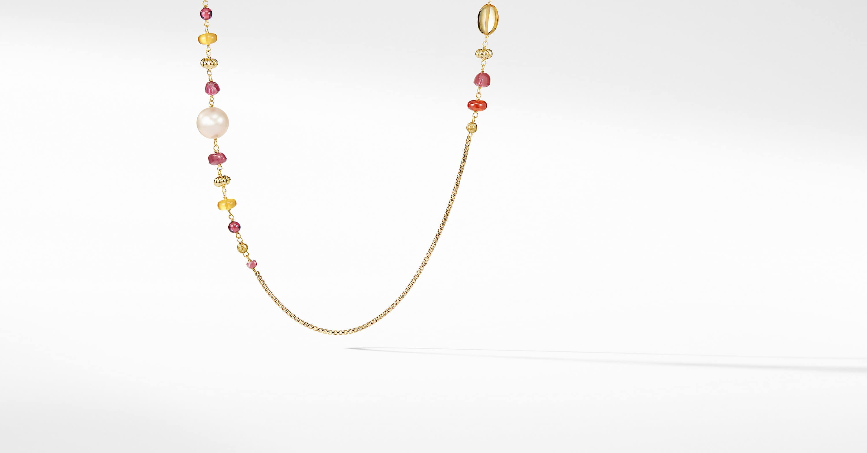 Bijoux Bead and Chain Necklace in 18K Gold